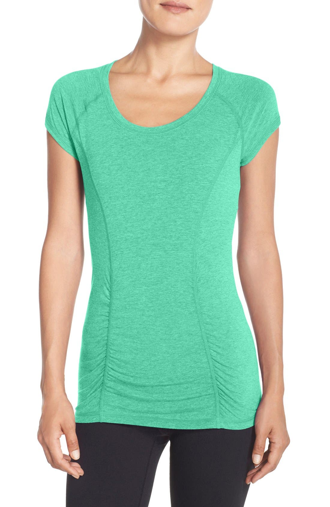 'Z 6' Ruched Tee,                             Main thumbnail 1, color,                             310