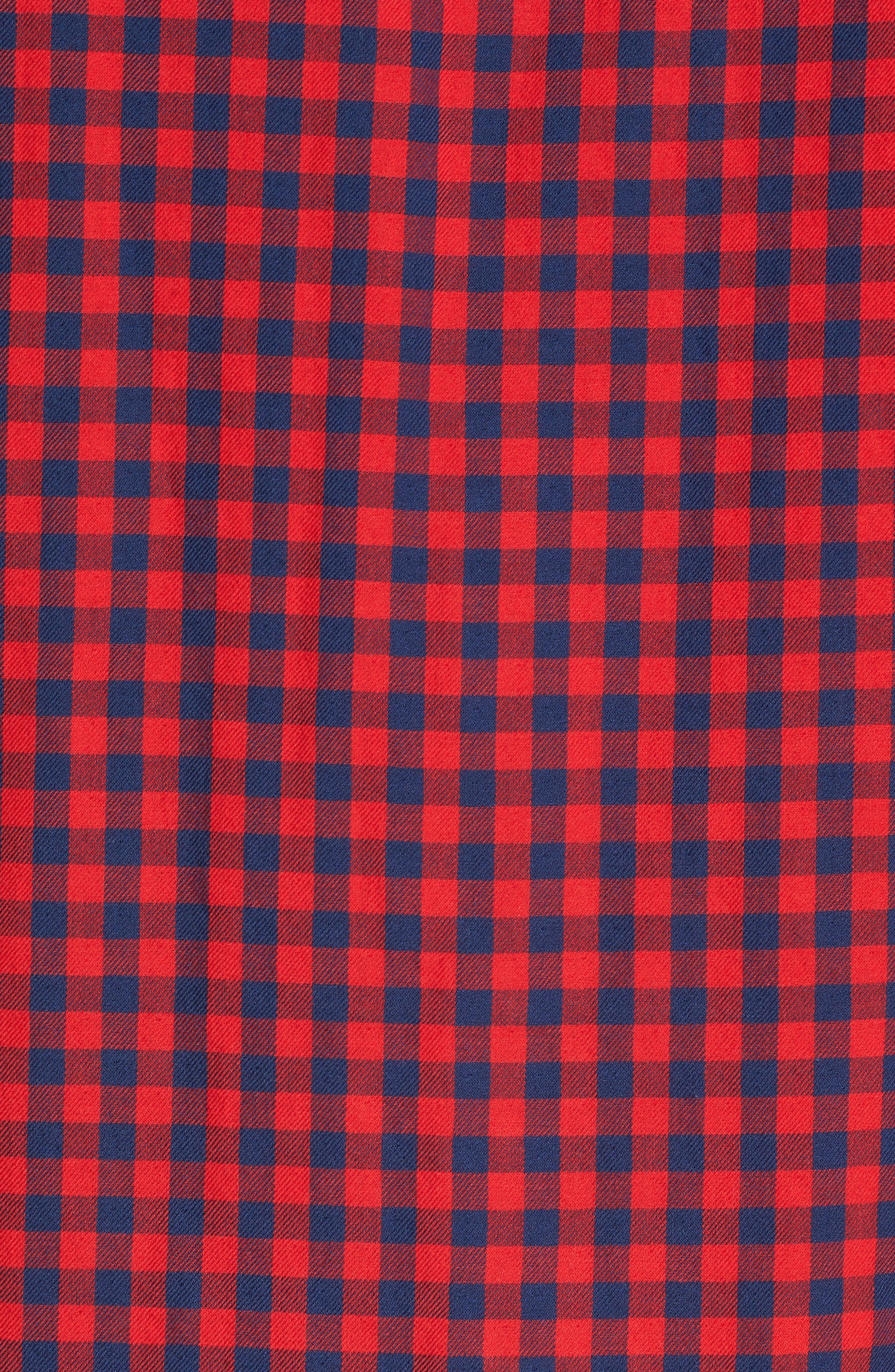 Buffalo Check Trim Fit Sport Shirt,                             Alternate thumbnail 5, color,                             610