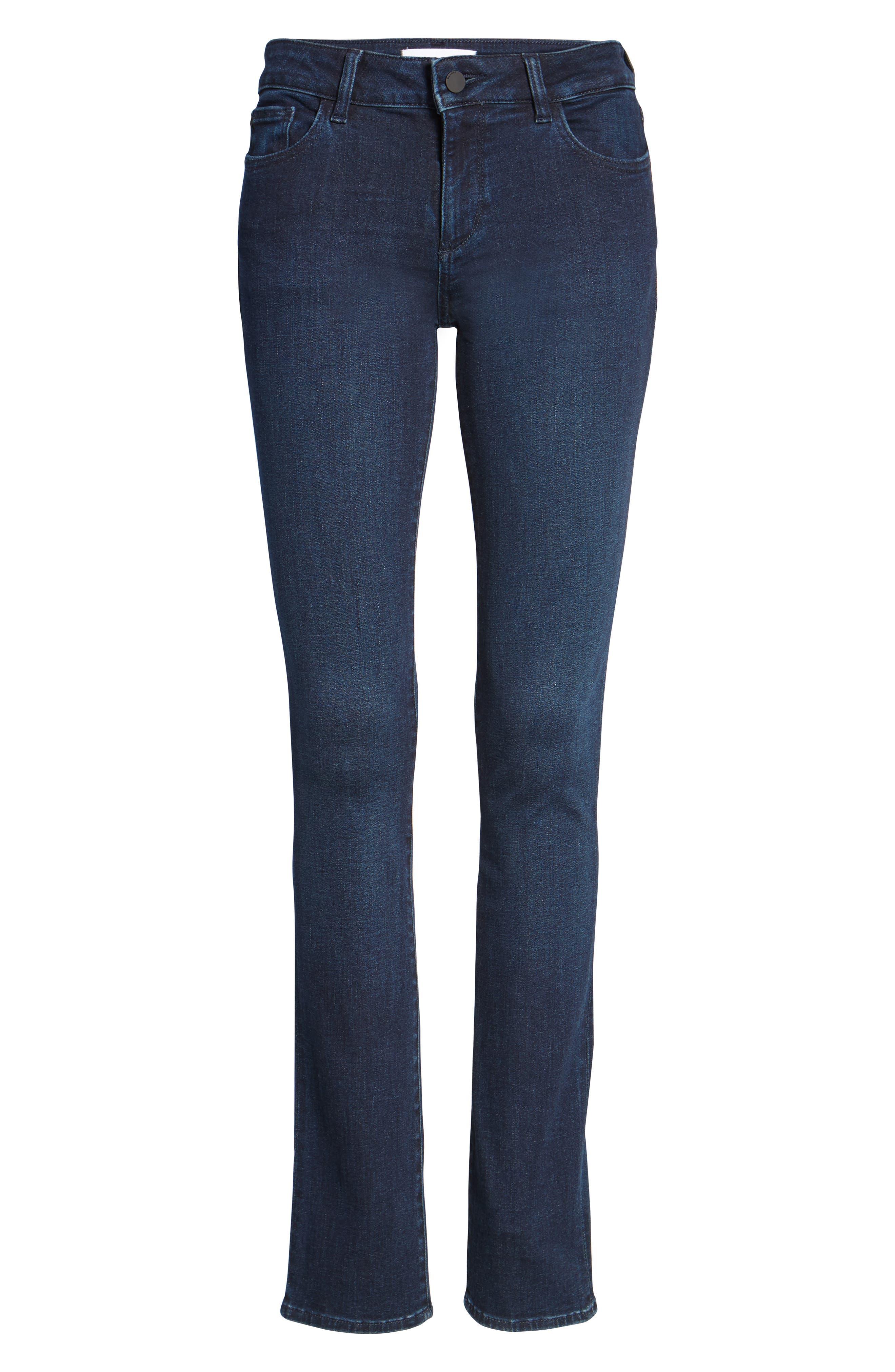 Mara Instasculpt Straight Leg Jeans,                             Alternate thumbnail 6, color,                             405