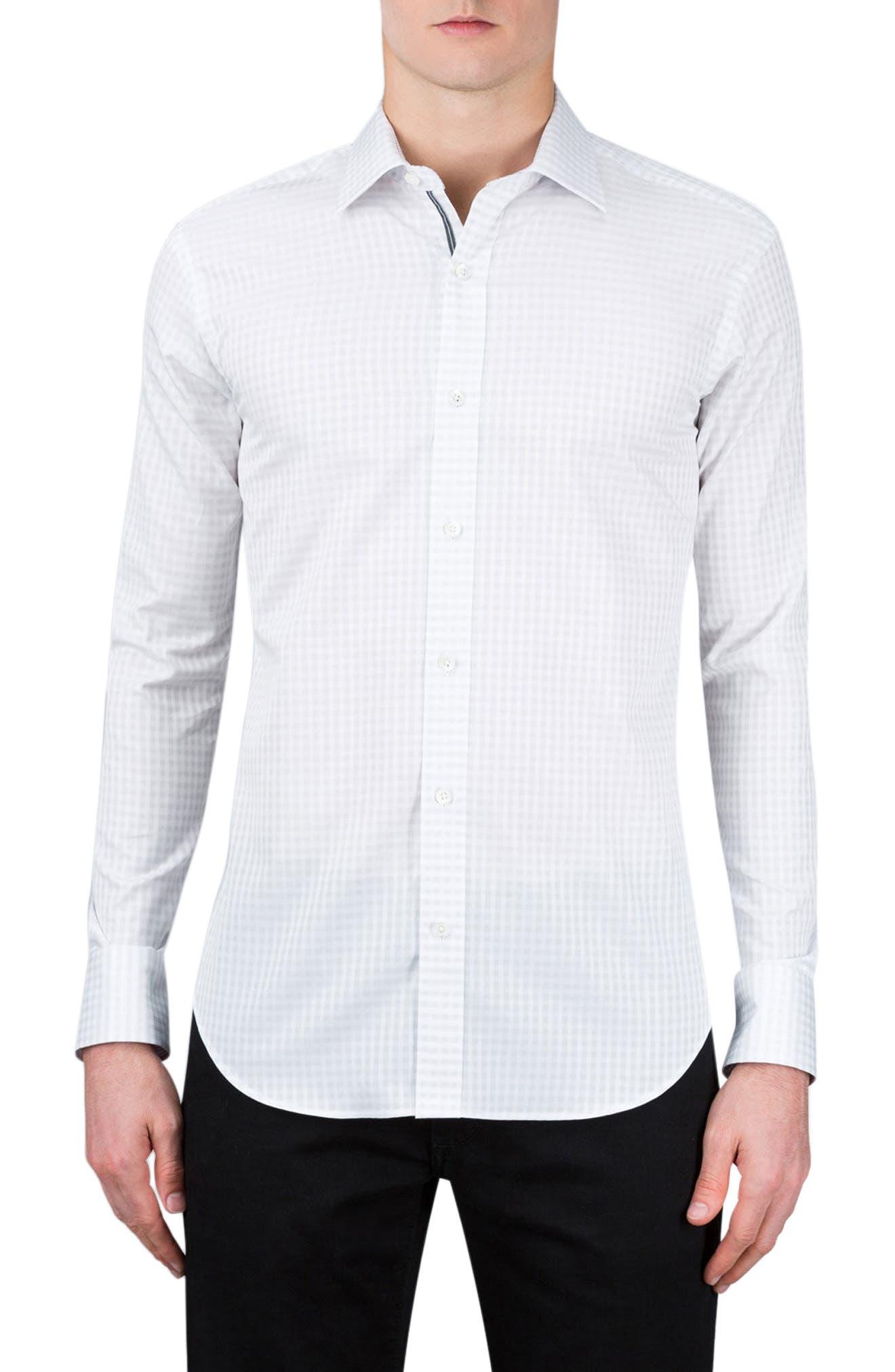 Classic Fit Check Sport Shirt,                         Main,                         color, 100
