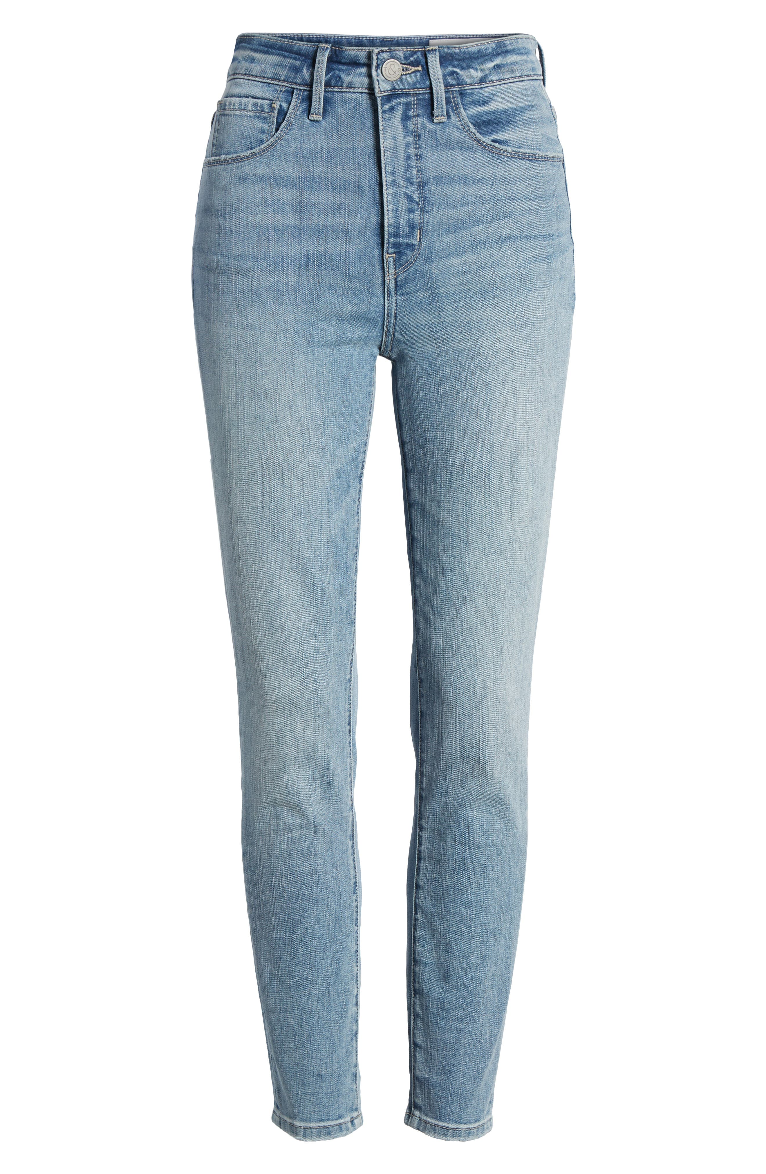 Charity High Waist Crop Skinny Jeans,                             Alternate thumbnail 7, color,                             420