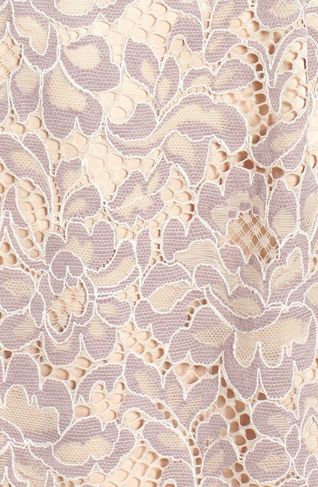 Lace Fit & Flare Dress,                             Alternate thumbnail 11, color,                             030