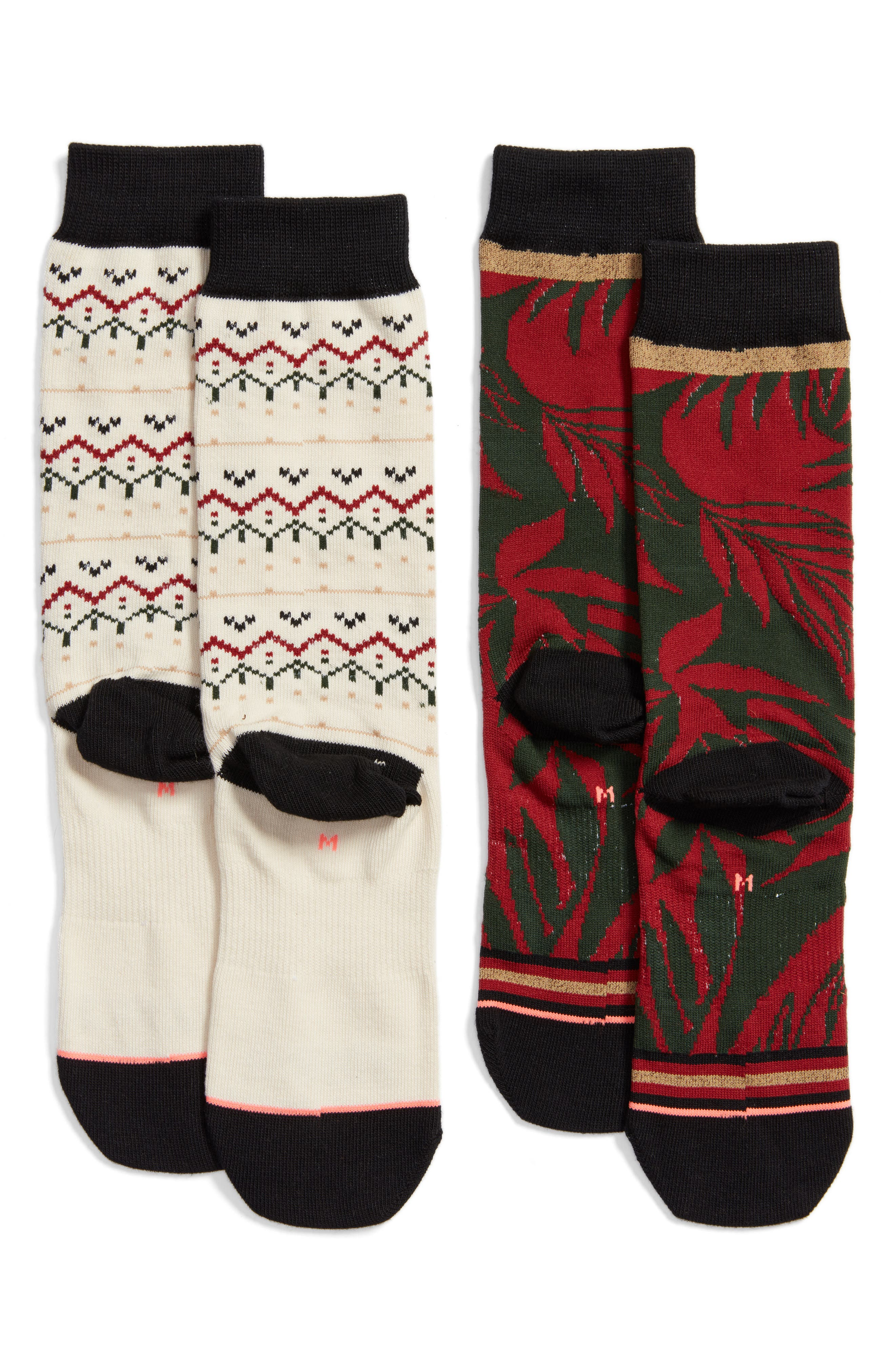 2-Pack Holiday Socks,                             Alternate thumbnail 2, color,                             930