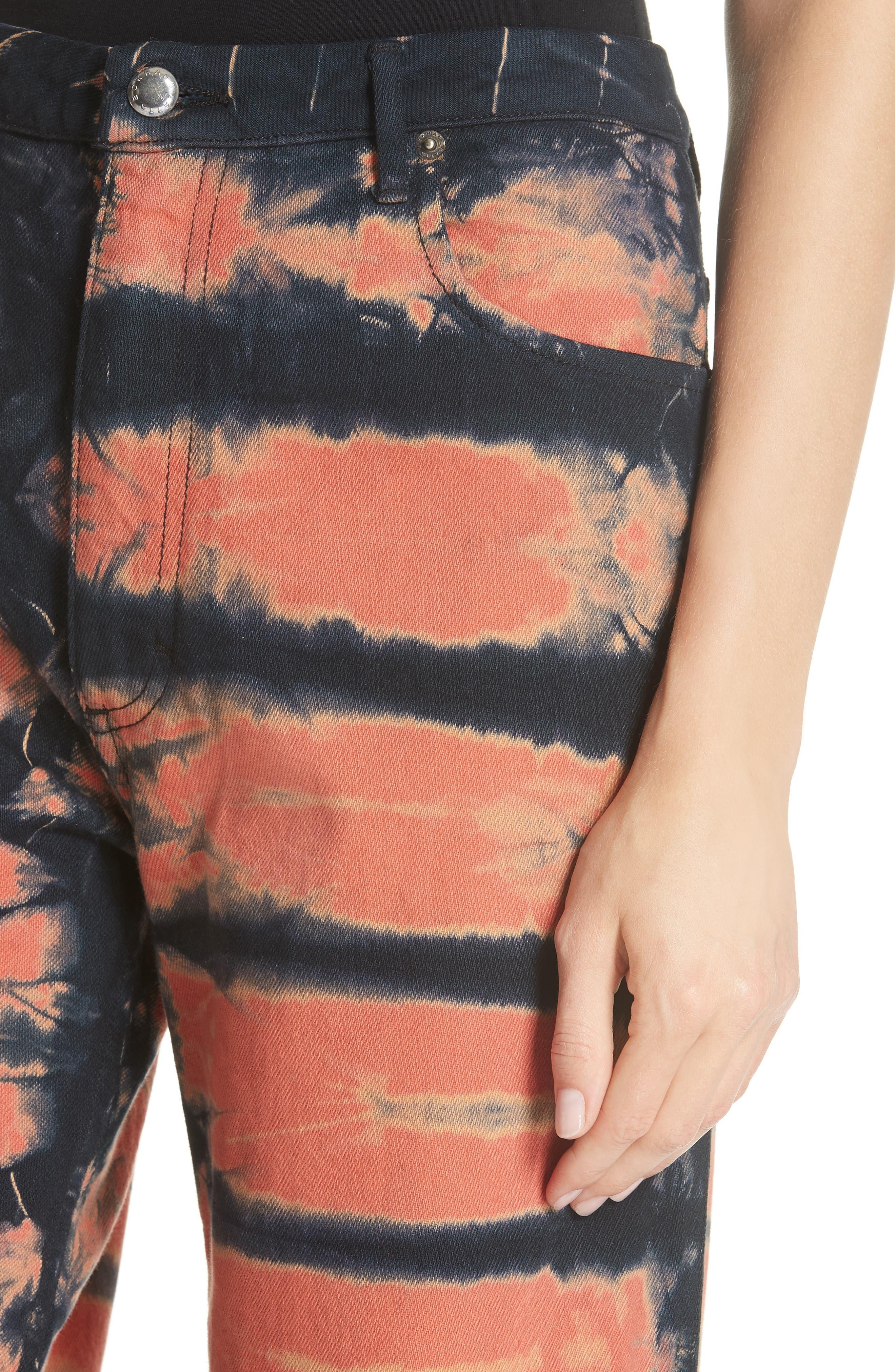 Tie Dye Wide Leg Jeans,                             Alternate thumbnail 4, color,                             SHI-SHIBORI