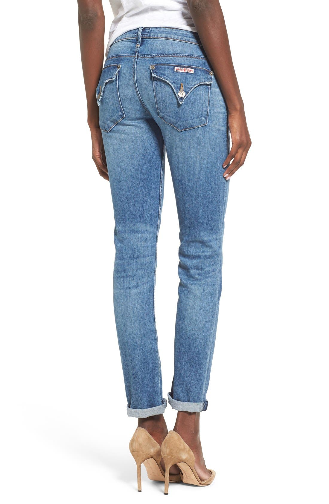 'Jax' Slim Boyfriend Jeans,                             Alternate thumbnail 4, color,                             425