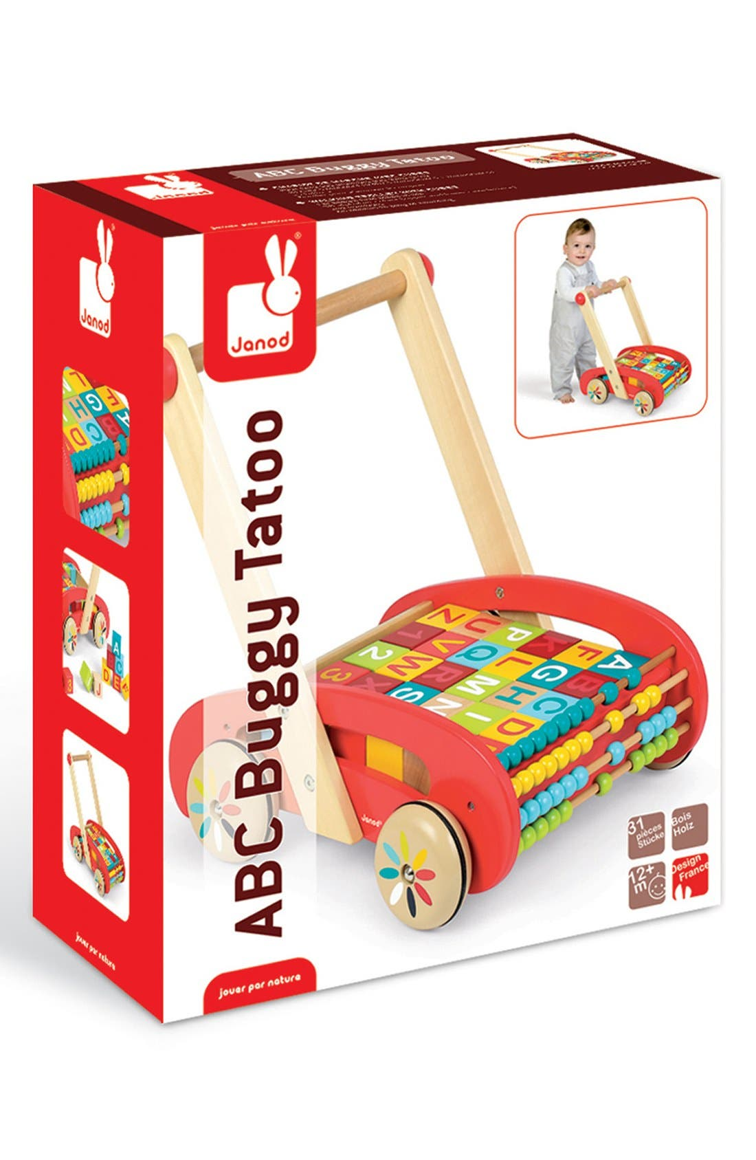 ABC Wooden Block Buggy,                             Alternate thumbnail 4, color,                             600
