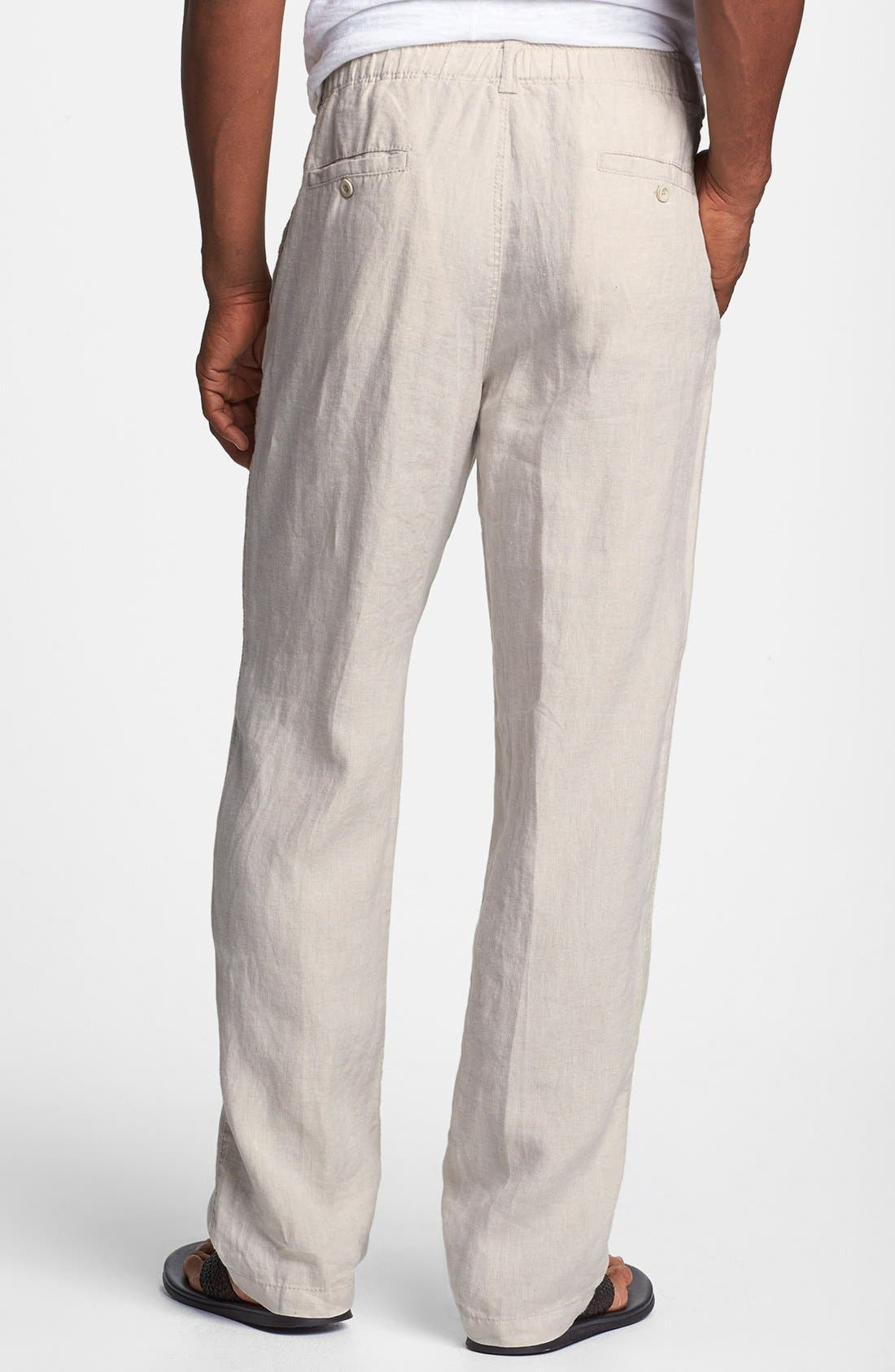 'New Linen on the Beach' Easy Fit Pants,                             Alternate thumbnail 14, color,