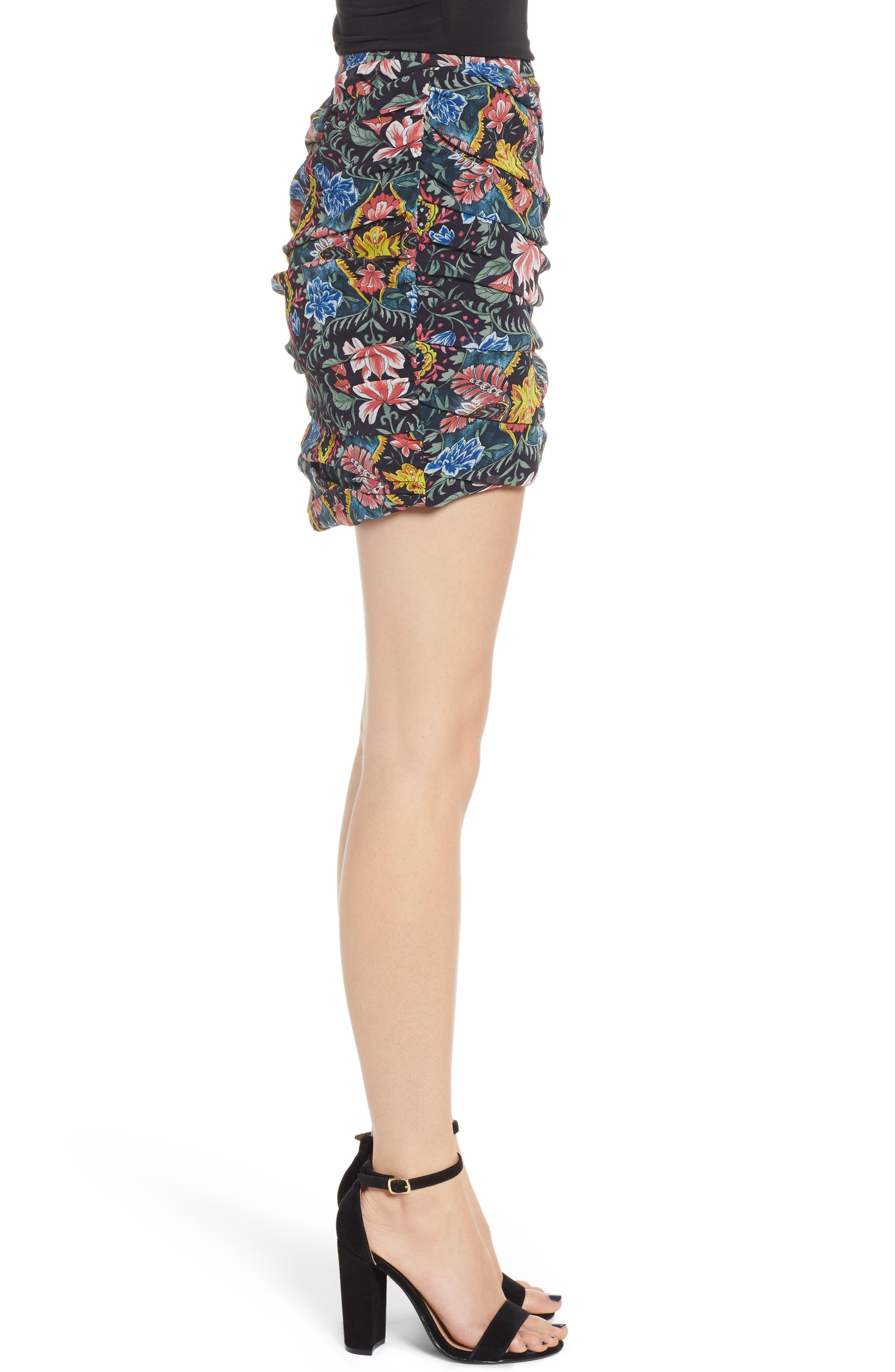 Adalynn Floral Miniskirt,                             Alternate thumbnail 3, color,                             MULTI