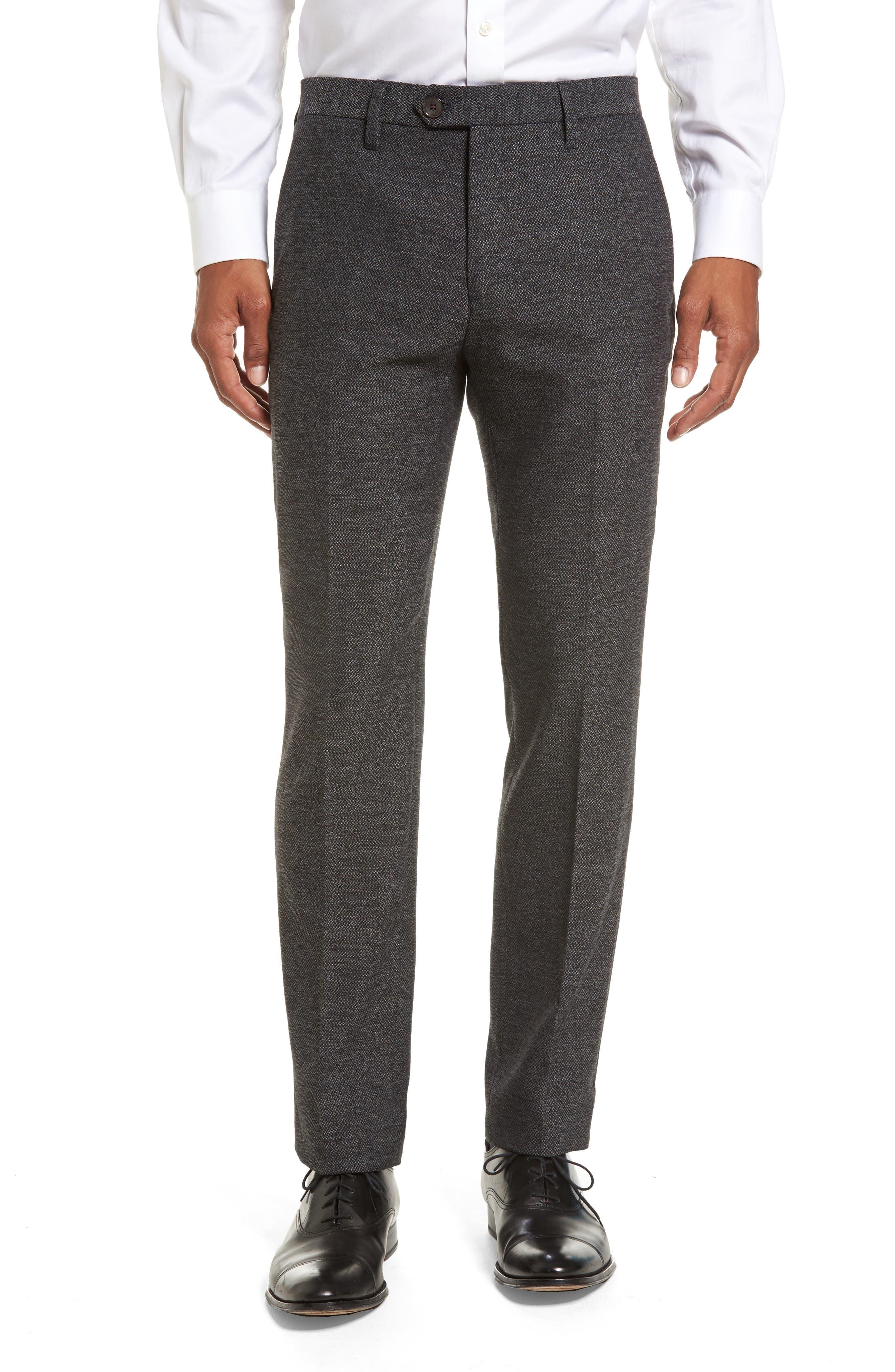 Porttro Modern Slim Fit Trousers,                             Main thumbnail 1, color,                             010