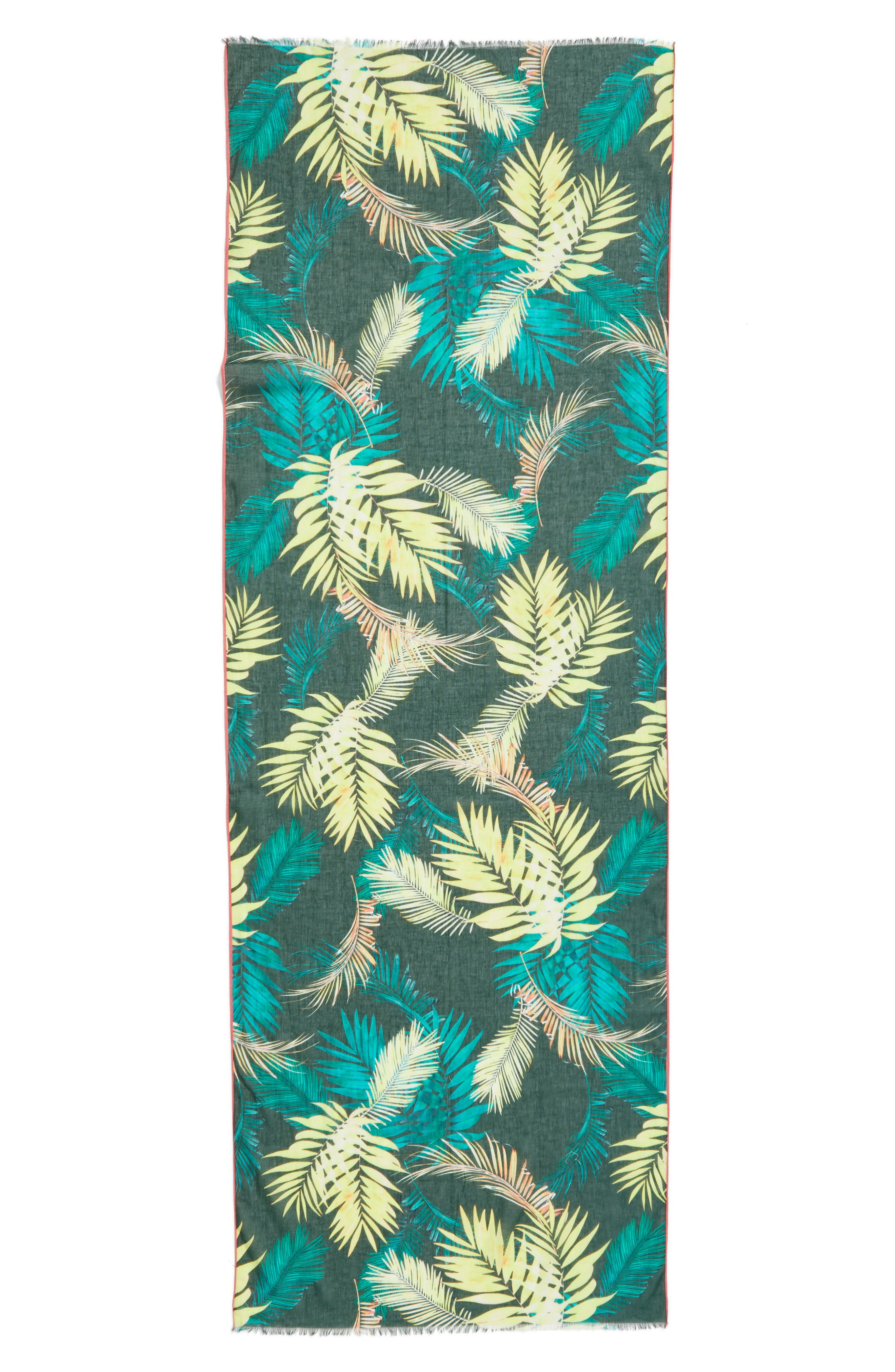 Palm Oblong Scarf,                             Alternate thumbnail 2, color,                             300