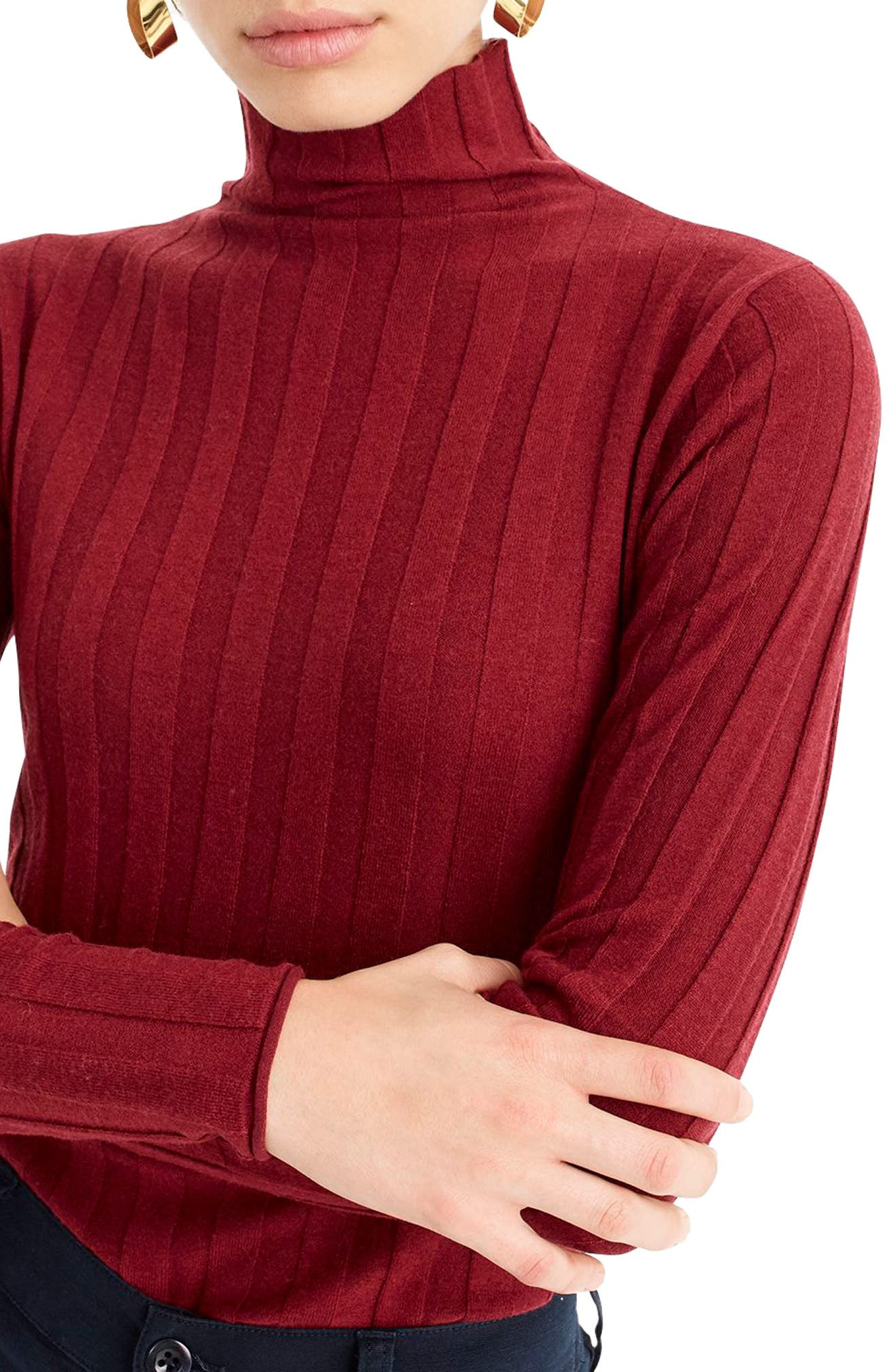 365 Stretch Ribbed Turtleneck Sweater,                             Alternate thumbnail 4, color,                             930