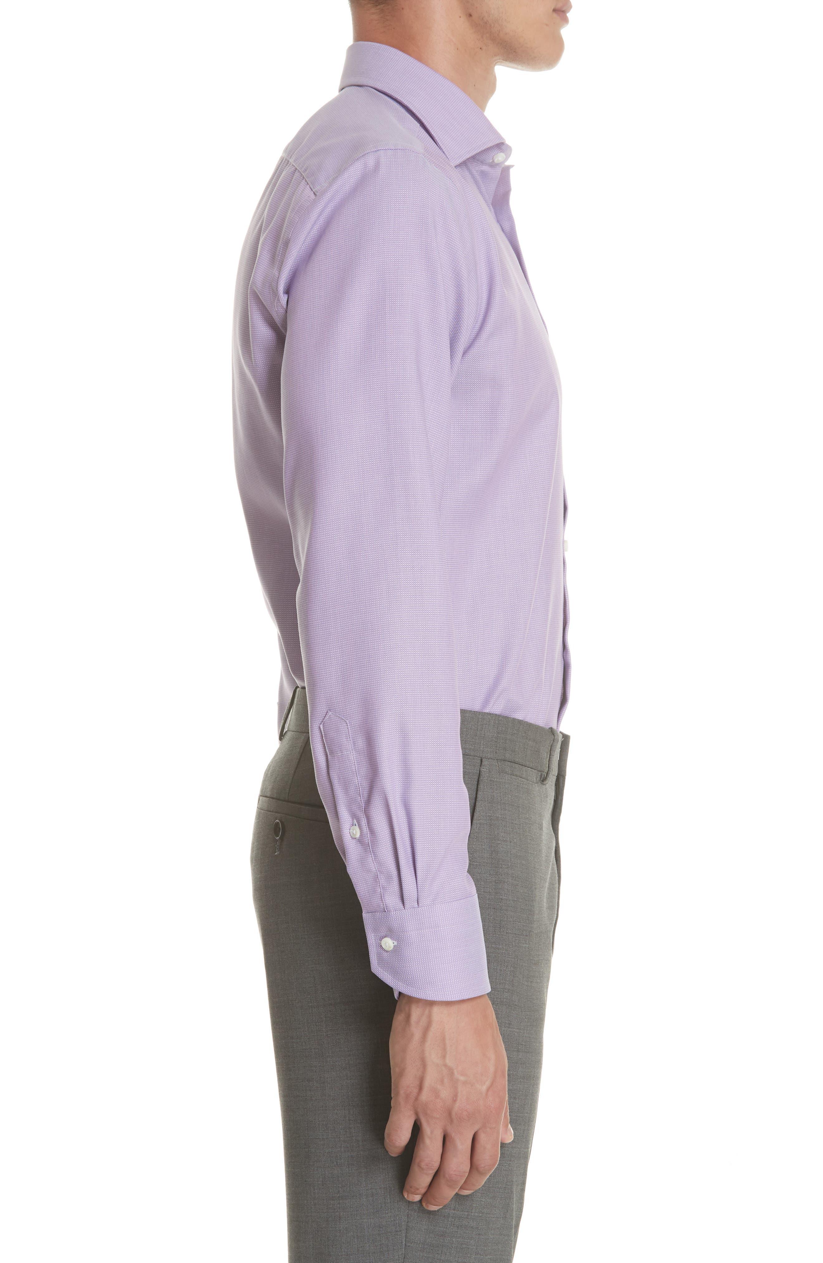 Regular Fit Solid Dress Shirt,                             Alternate thumbnail 4, color,                             520