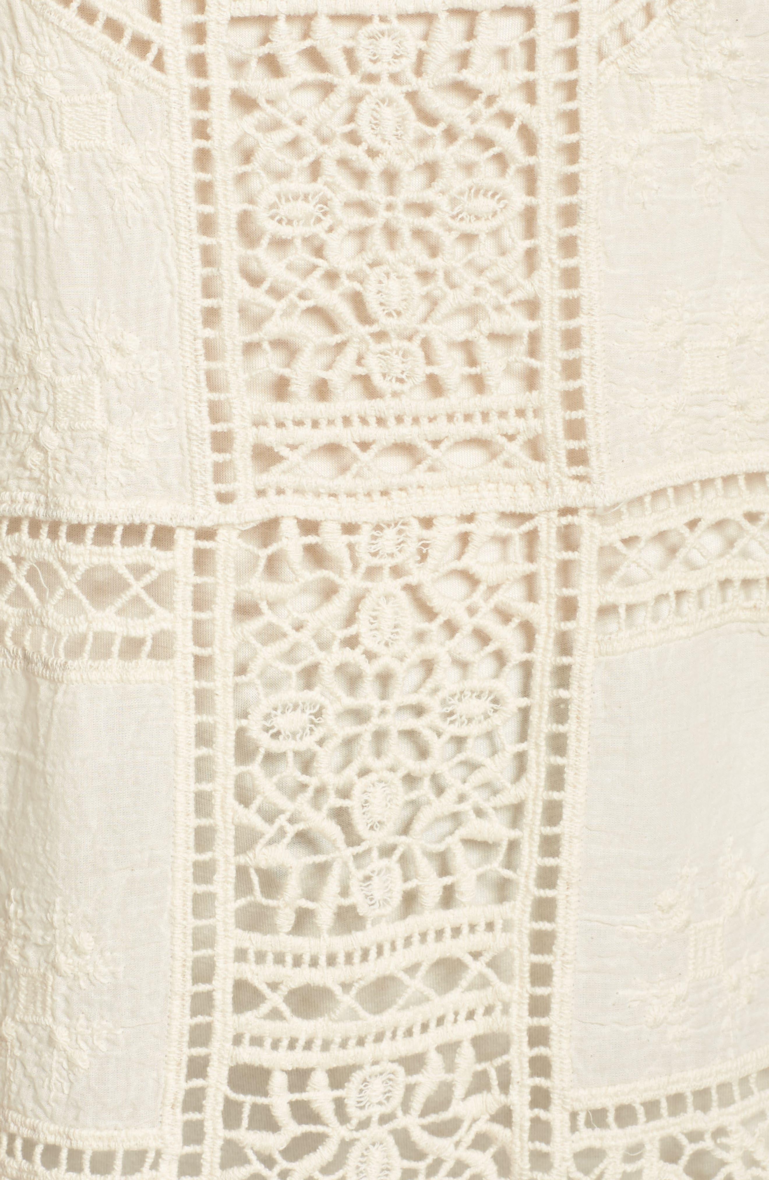Flutter Sleeve Crochet Top,                             Alternate thumbnail 15, color,