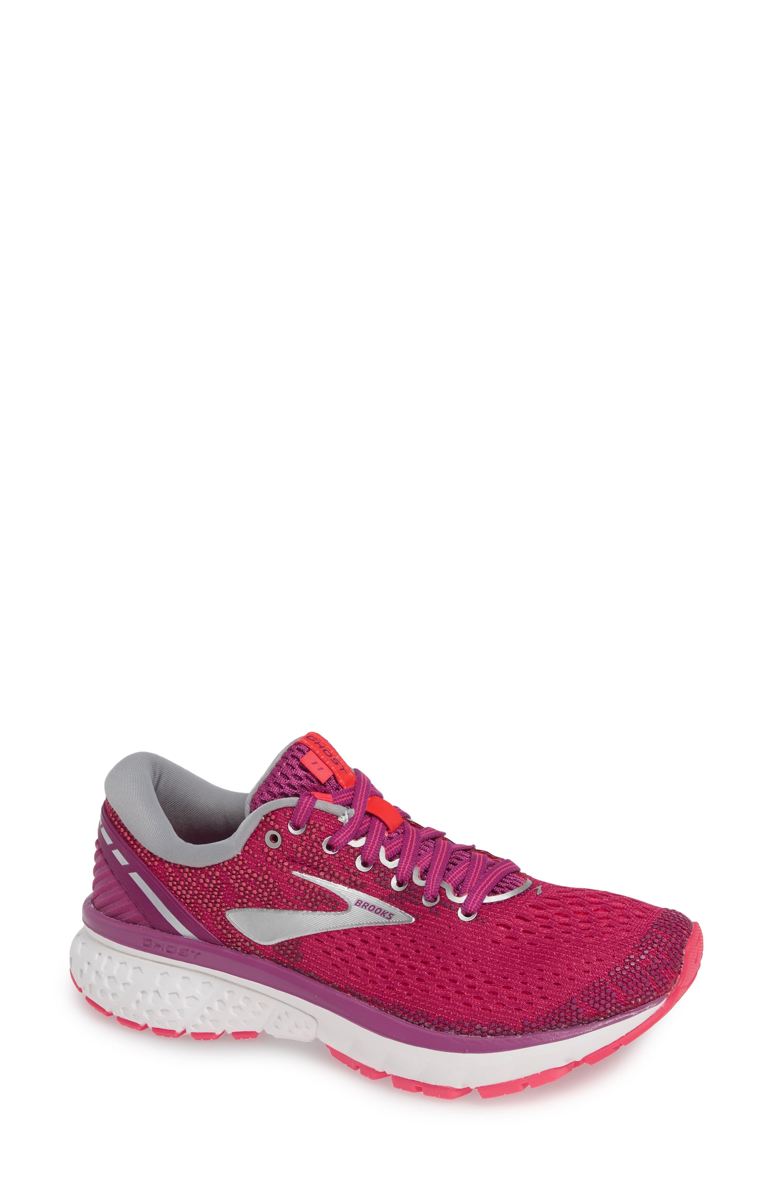 Brooks Ghost 11 Running Shoe, Pink