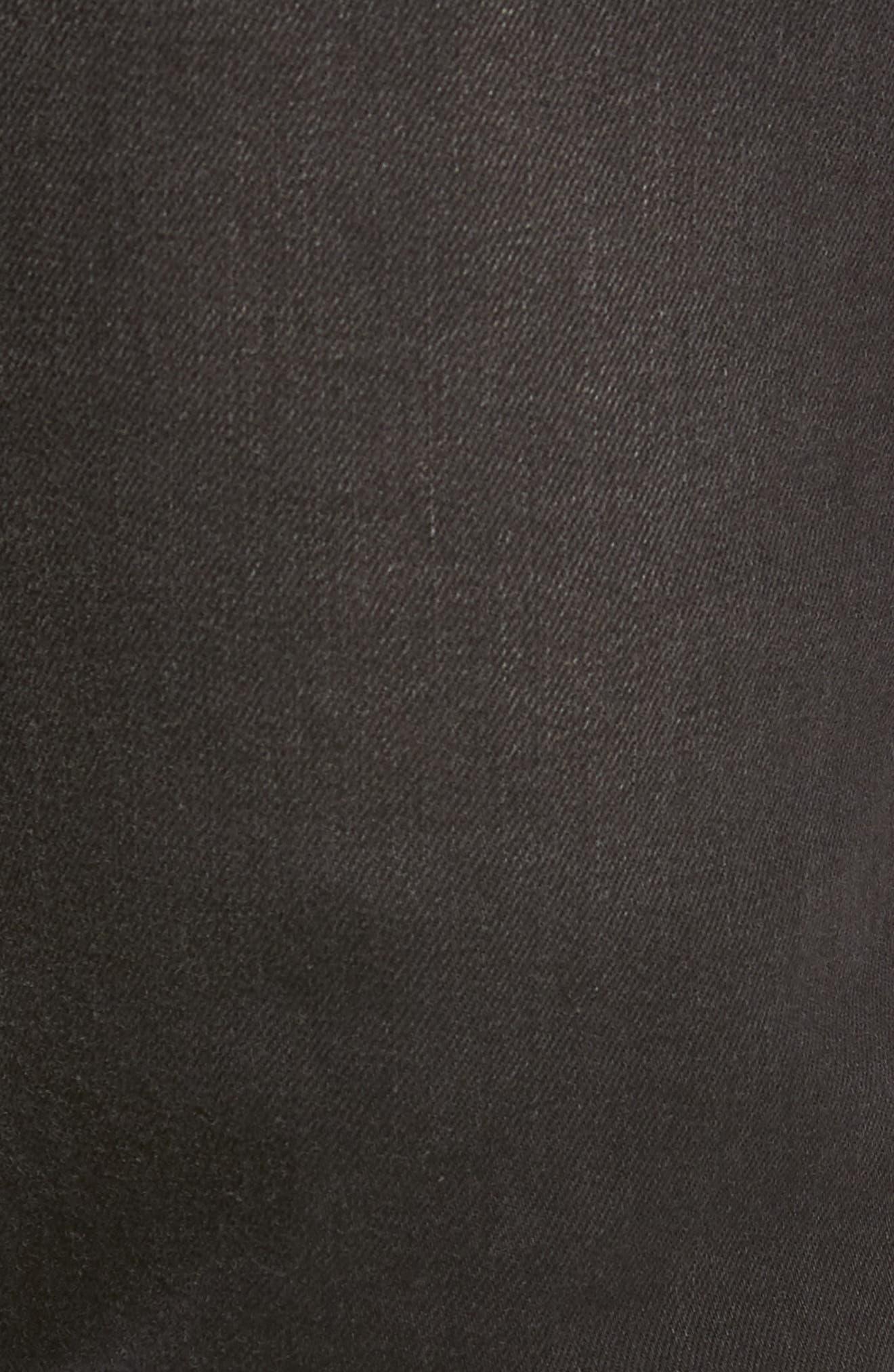Slim Fit Jeans,                             Alternate thumbnail 5, color,                             BLACK