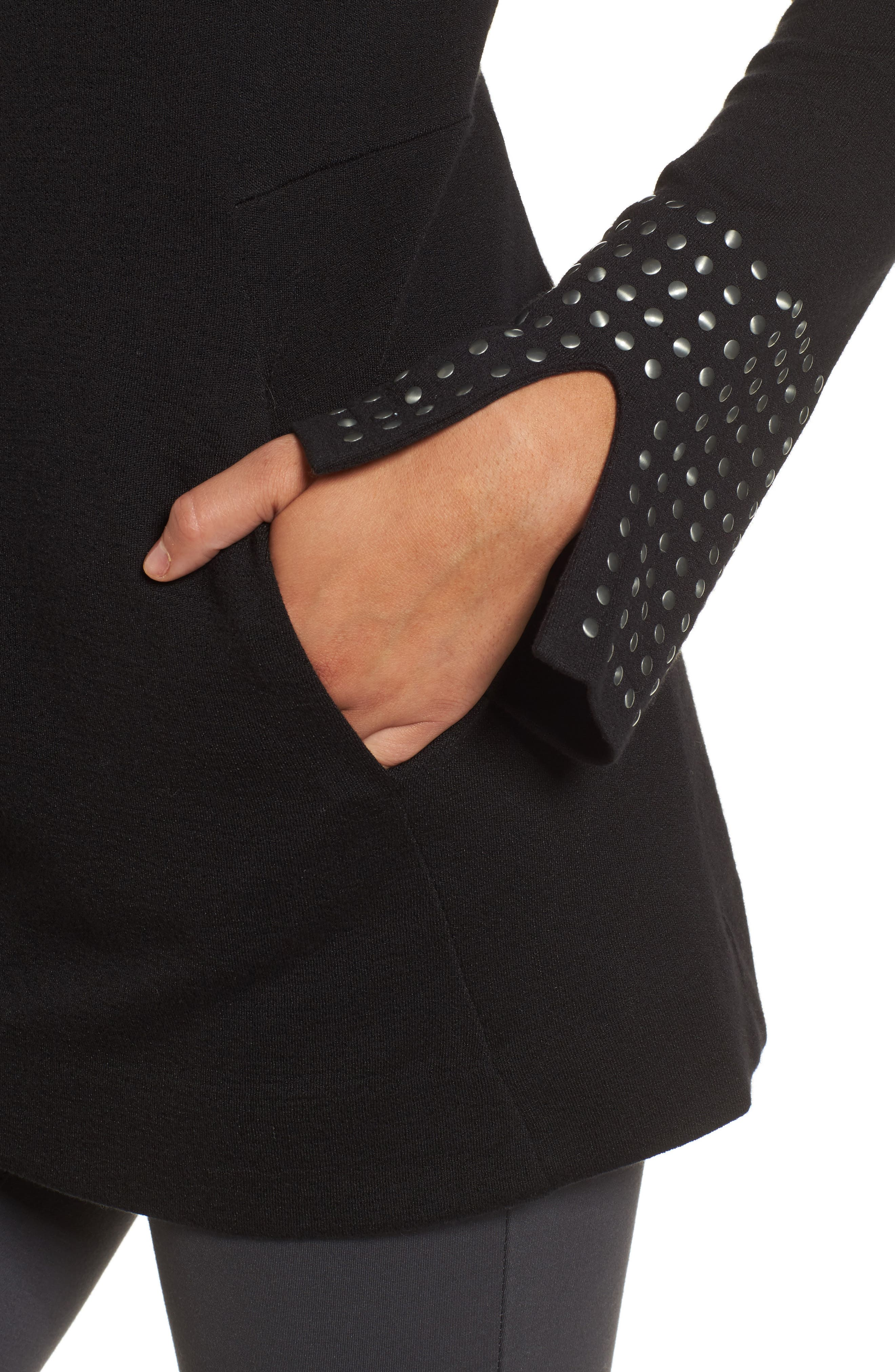 Stud Cuff Top,                             Alternate thumbnail 4, color,                             004