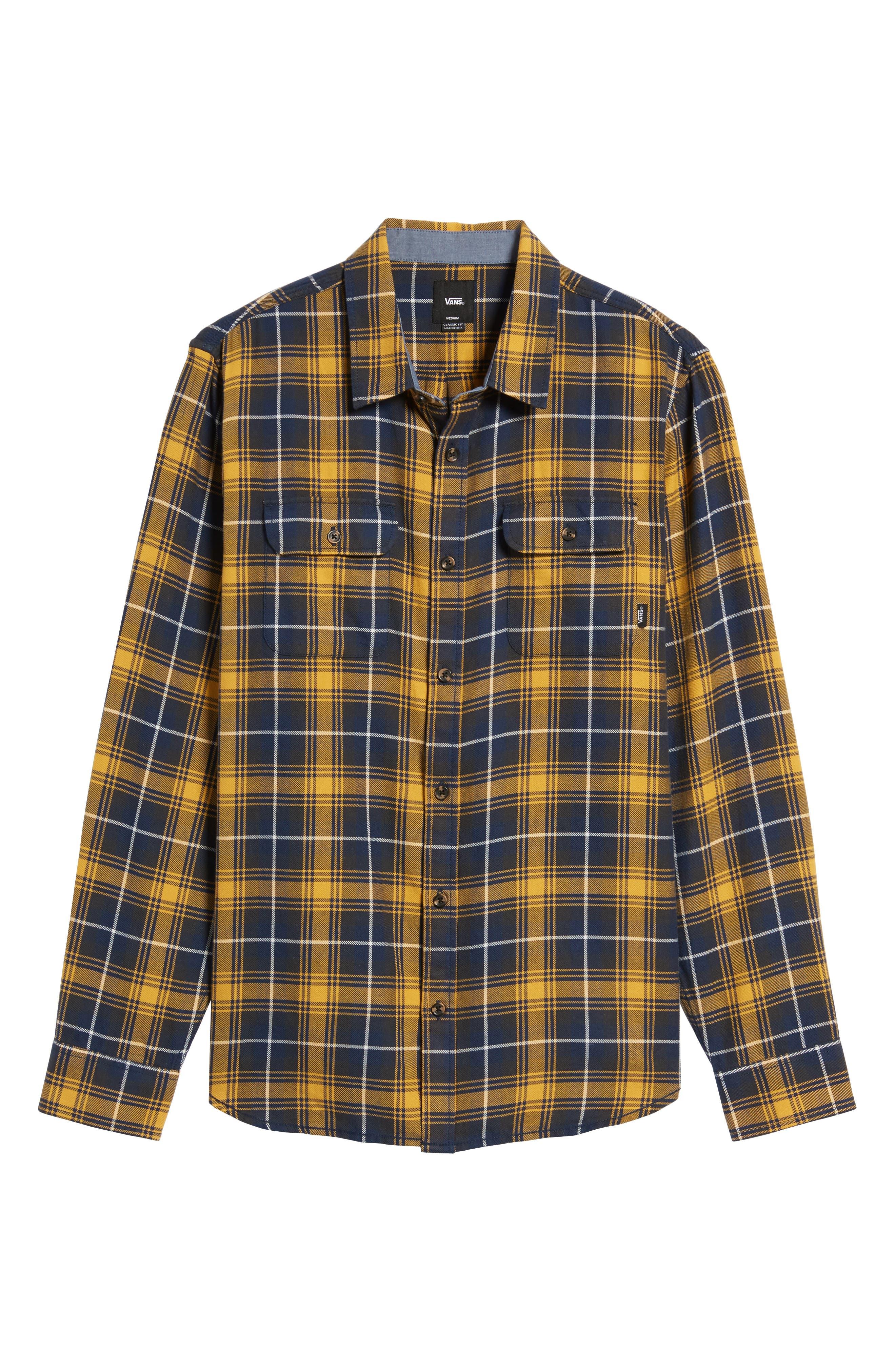 Sycamore Plaid Flannel Sport Shirt,                             Alternate thumbnail 6, color,                             720
