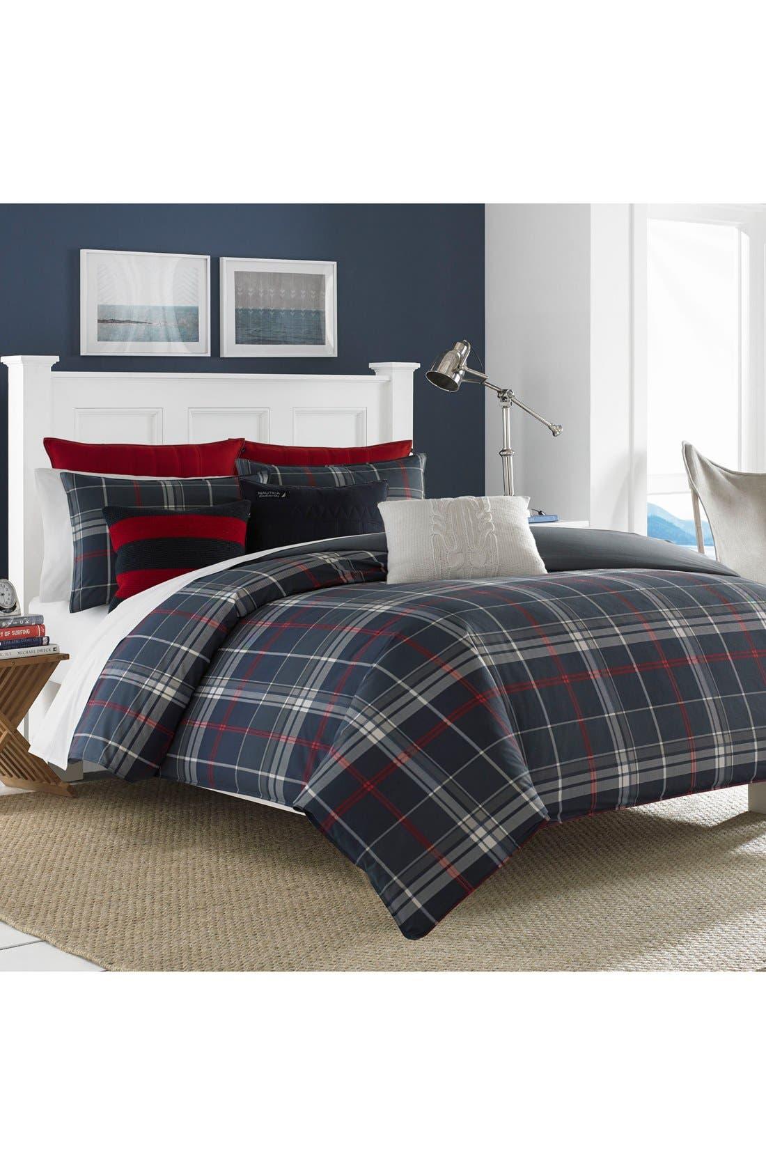 Booker Cotton Comforter & Sham Set,                             Alternate thumbnail 2, color,                             CHARCOAL