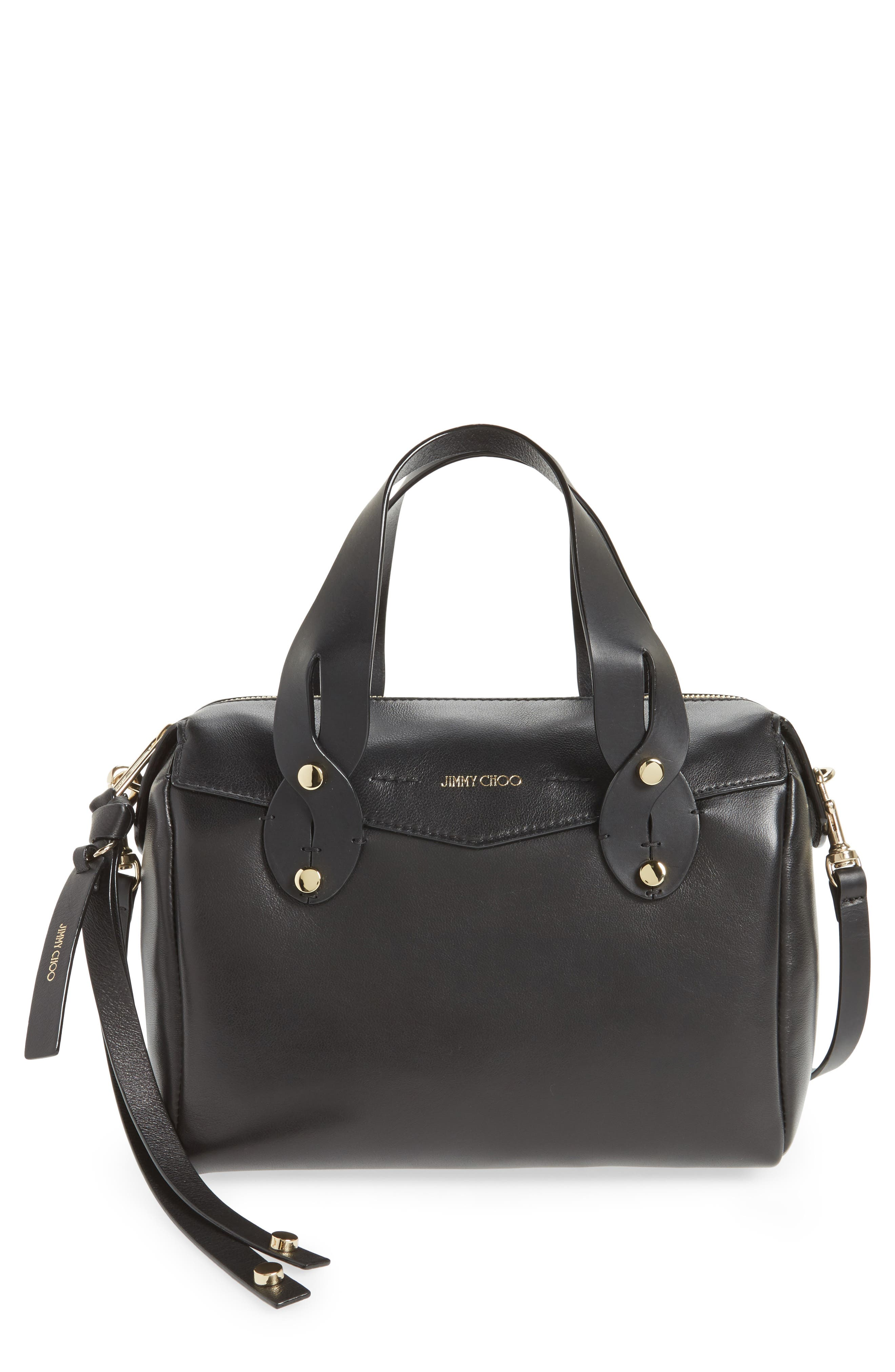 Small Allie Nappa Leather Bowling Bag,                             Main thumbnail 1, color,                             001