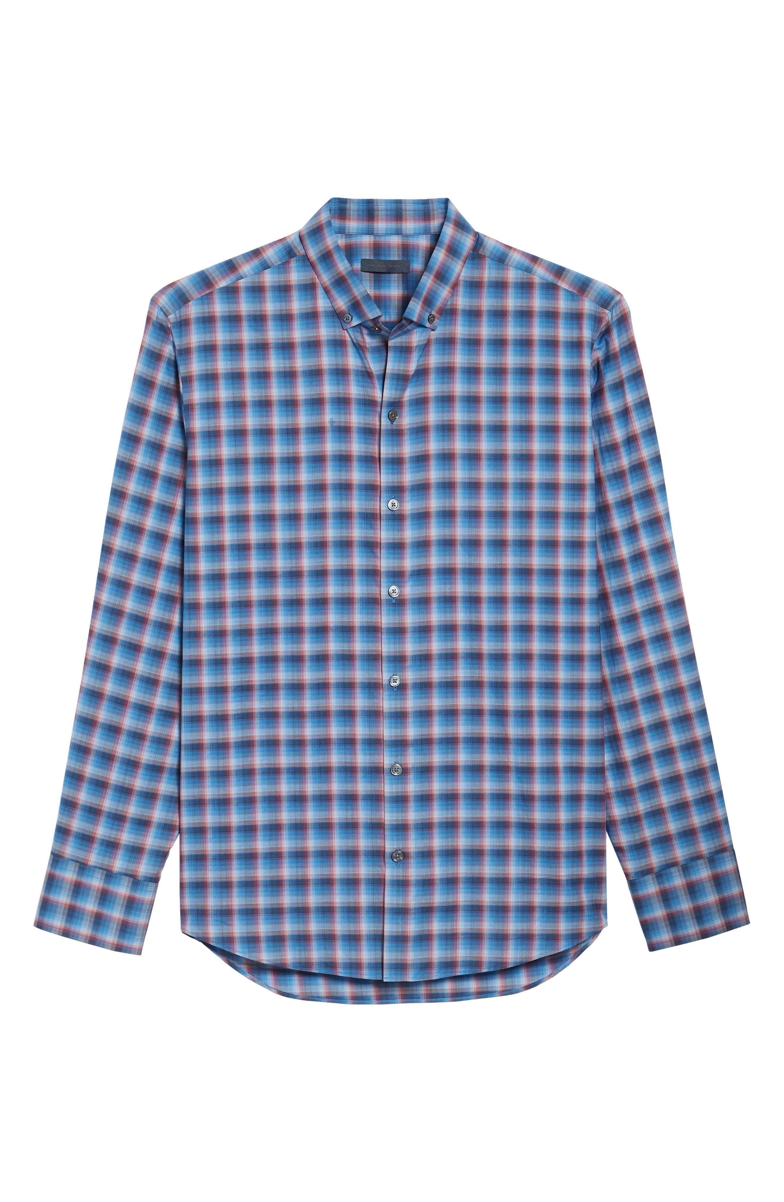 ZACHARY PRELL,                             Pinker Plaid Sport Shirt,                             Alternate thumbnail 6, color,                             401