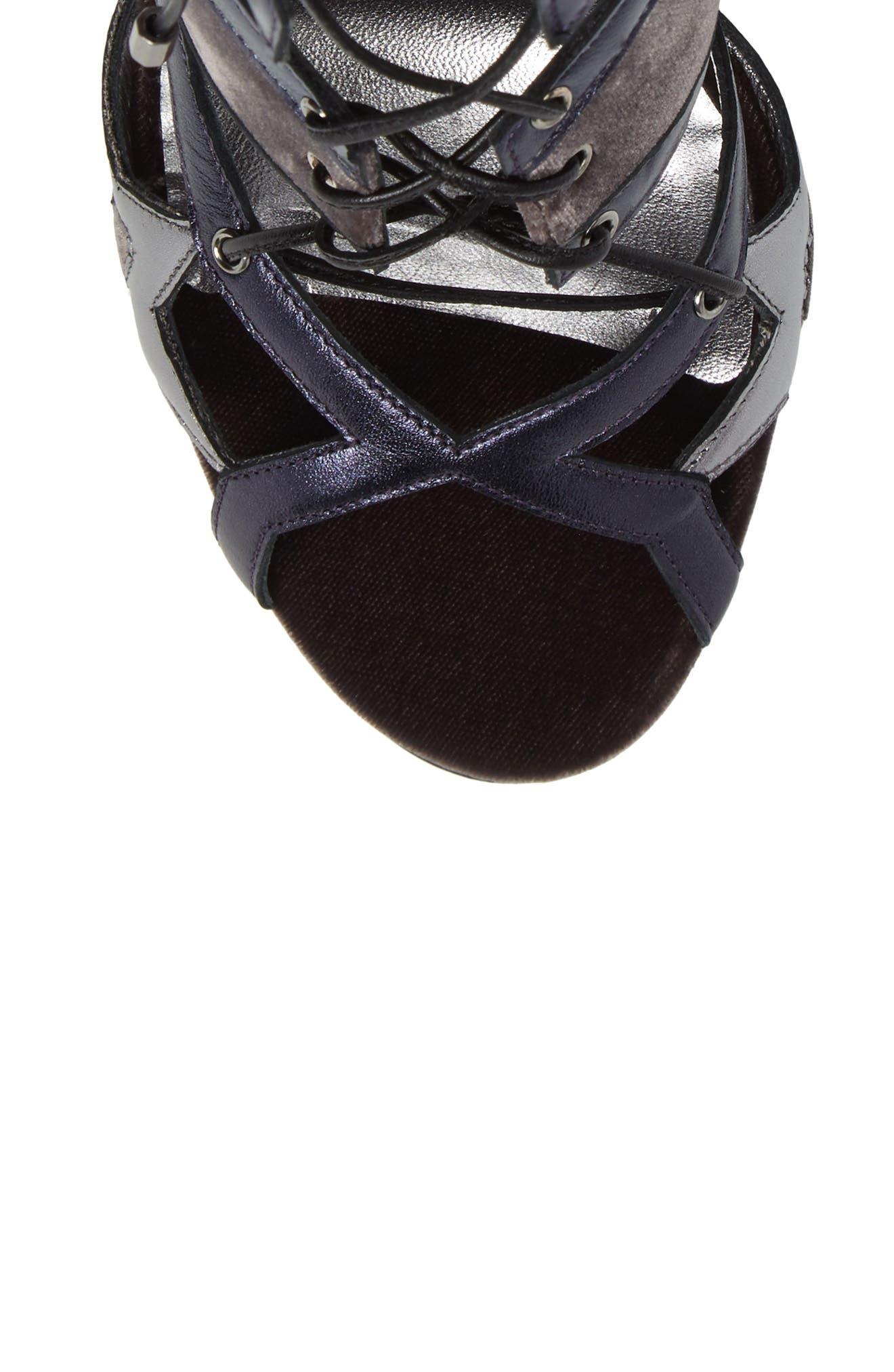Denney Lace-Up Sandal,                             Alternate thumbnail 5, color,                             020