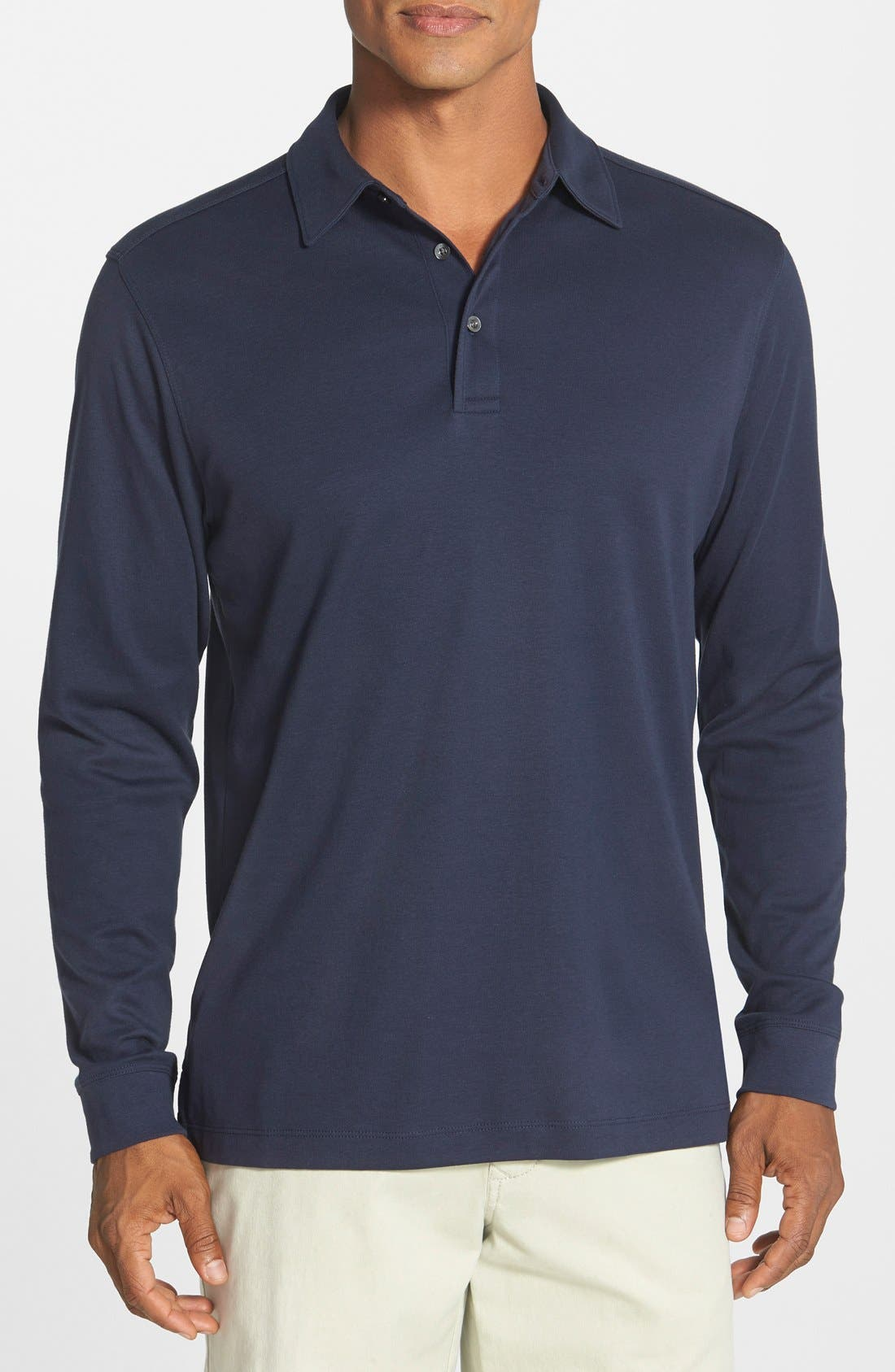 'Belfair' Pima Cotton Polo,                             Main thumbnail 4, color,