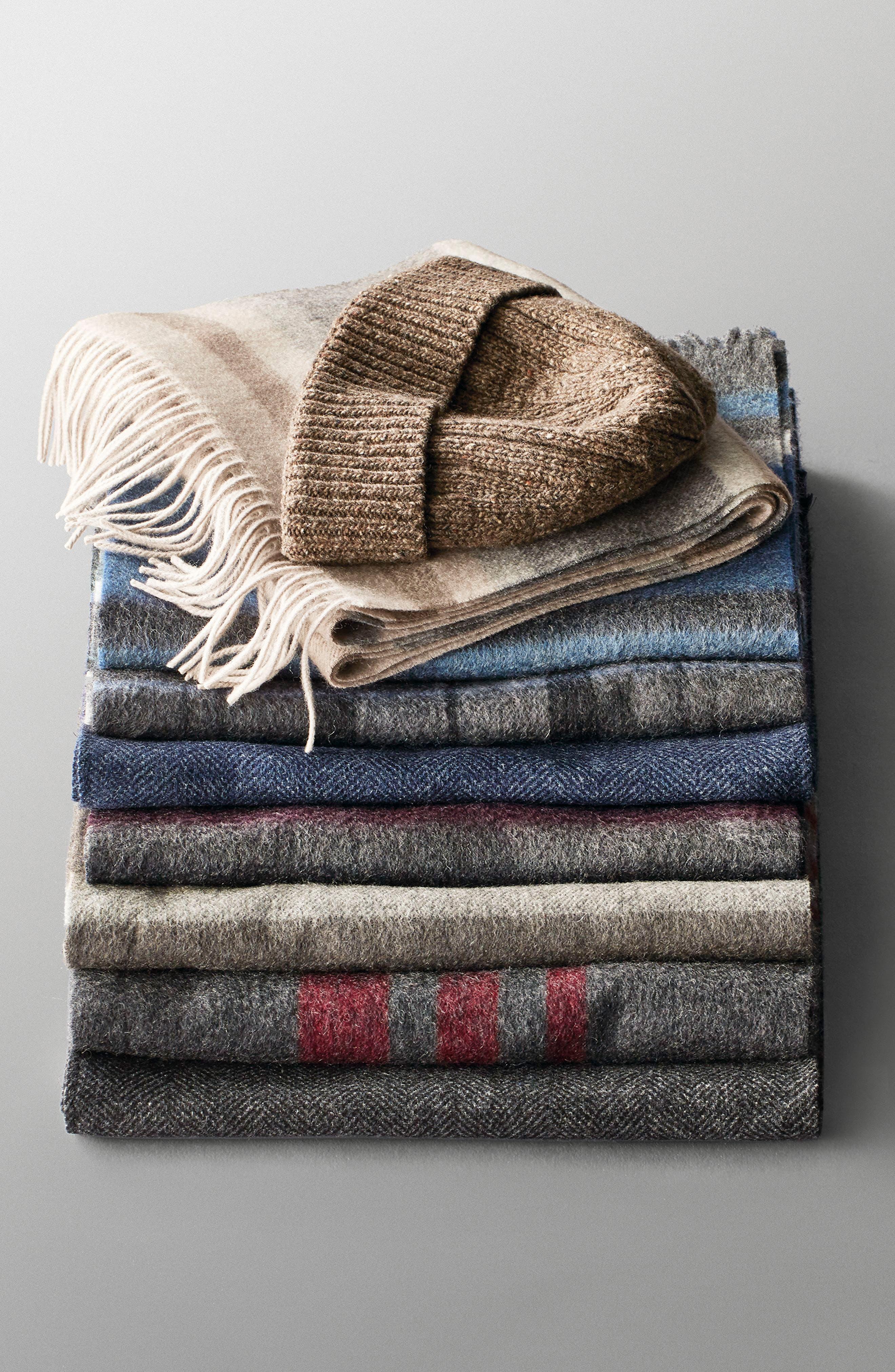 Wool Blend Beanie,                             Alternate thumbnail 3, color,                             002