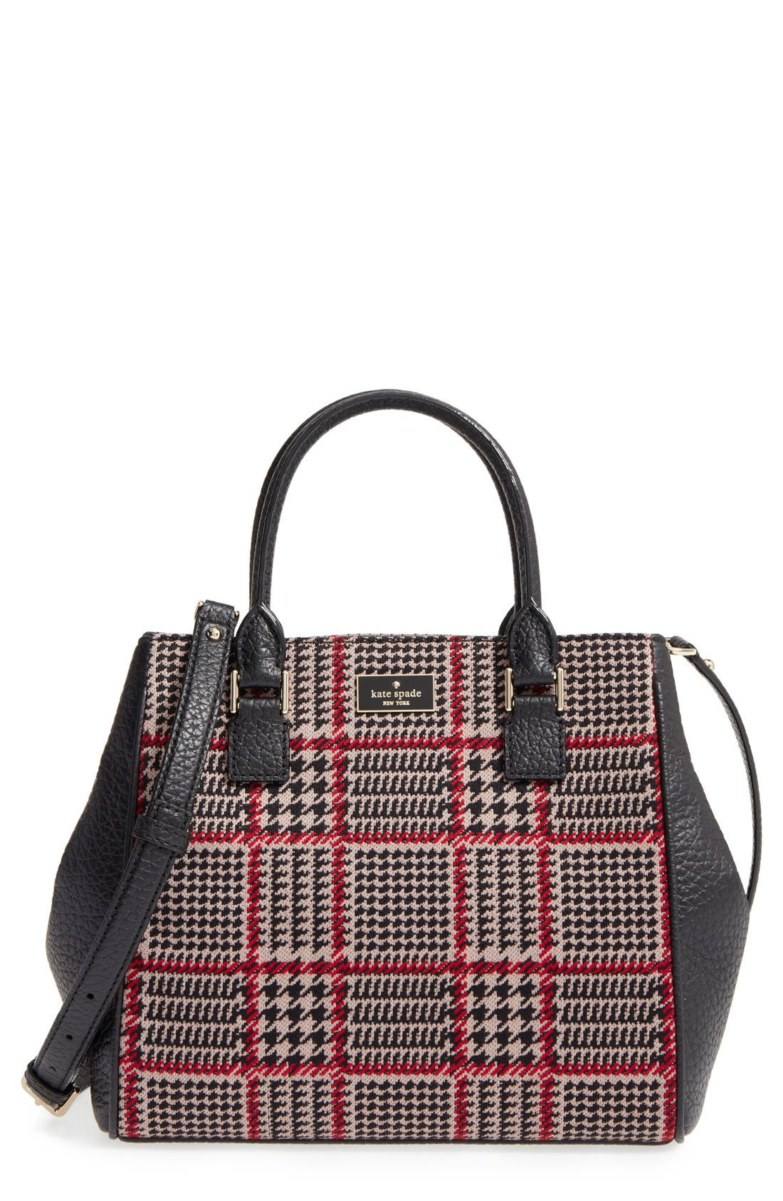prospect place maddie houndstooth satchel, Main, color, 206