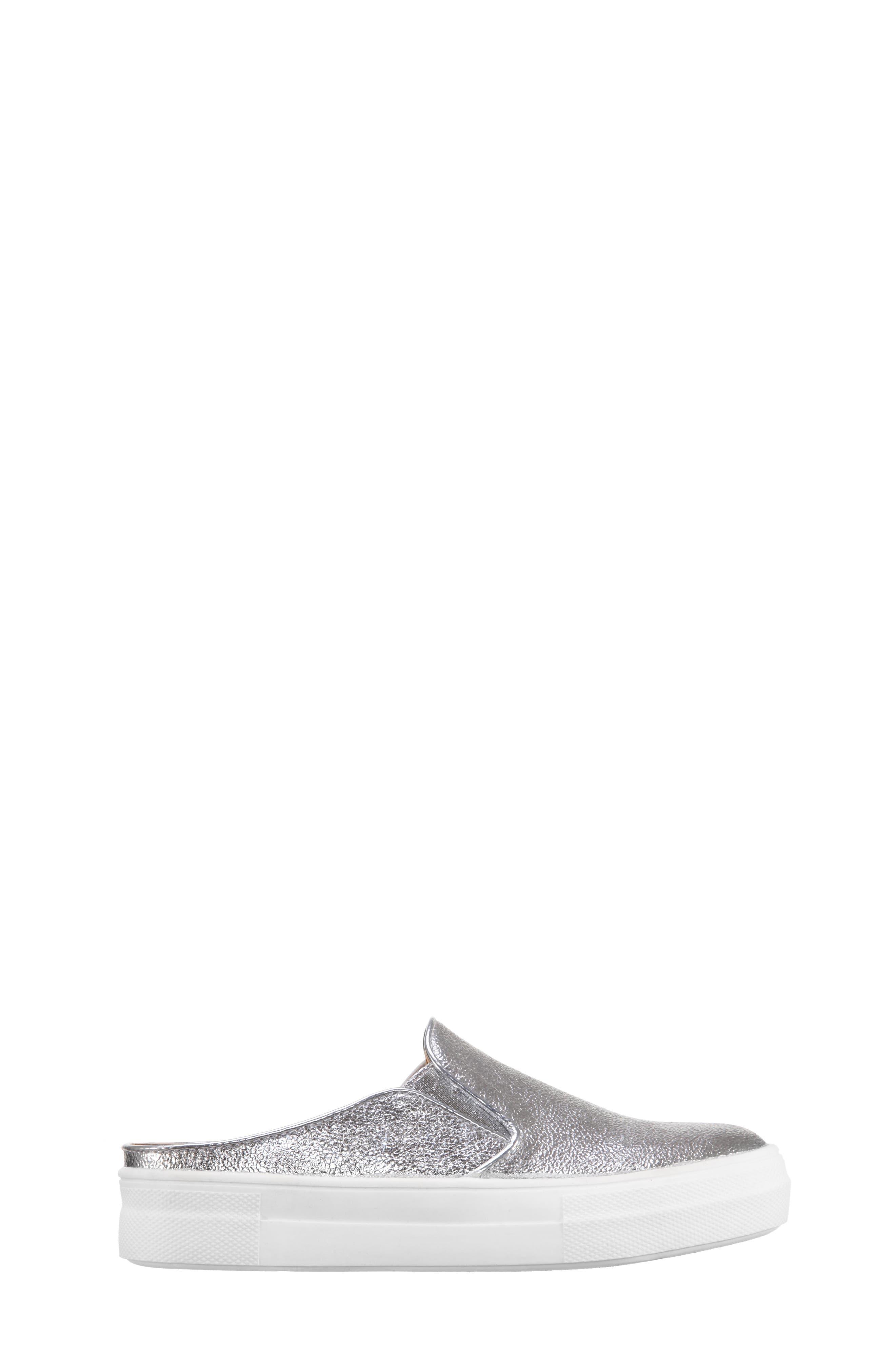 Gail Metallic Slip-On Sneaker Mule,                             Alternate thumbnail 3, color,                             044