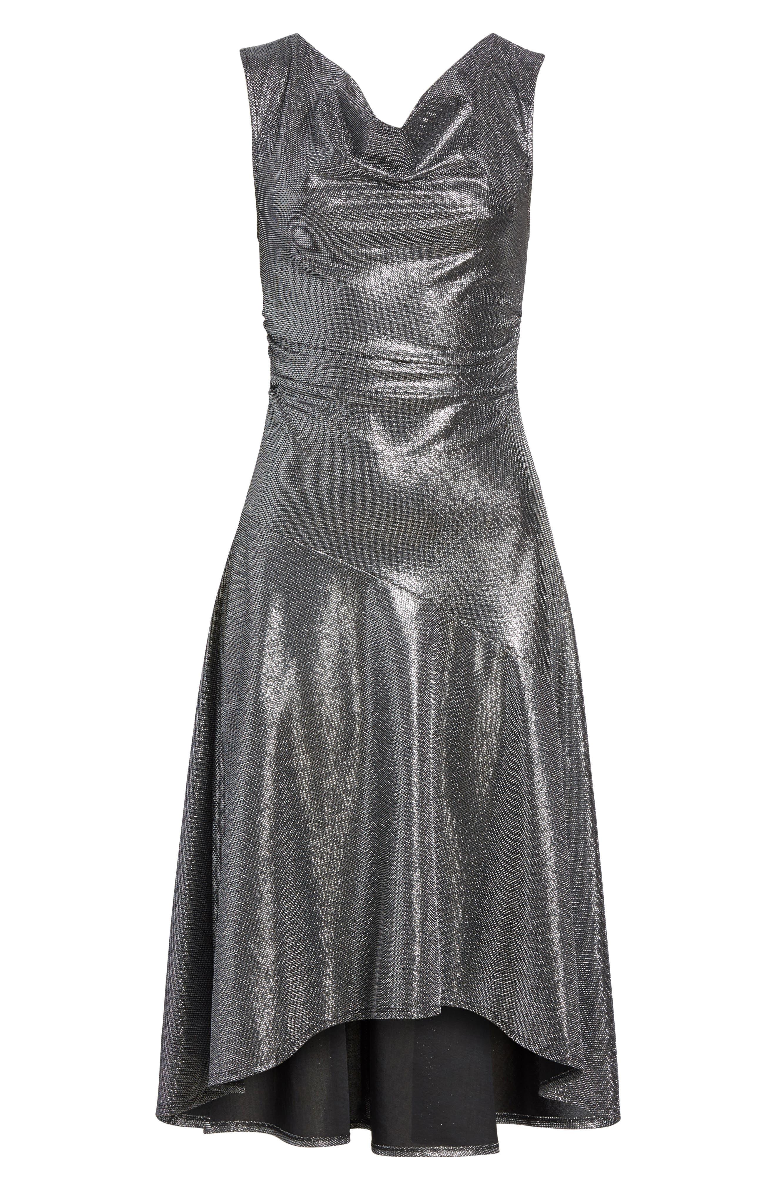 Draped High/Low Dress,                             Alternate thumbnail 6, color,                             045