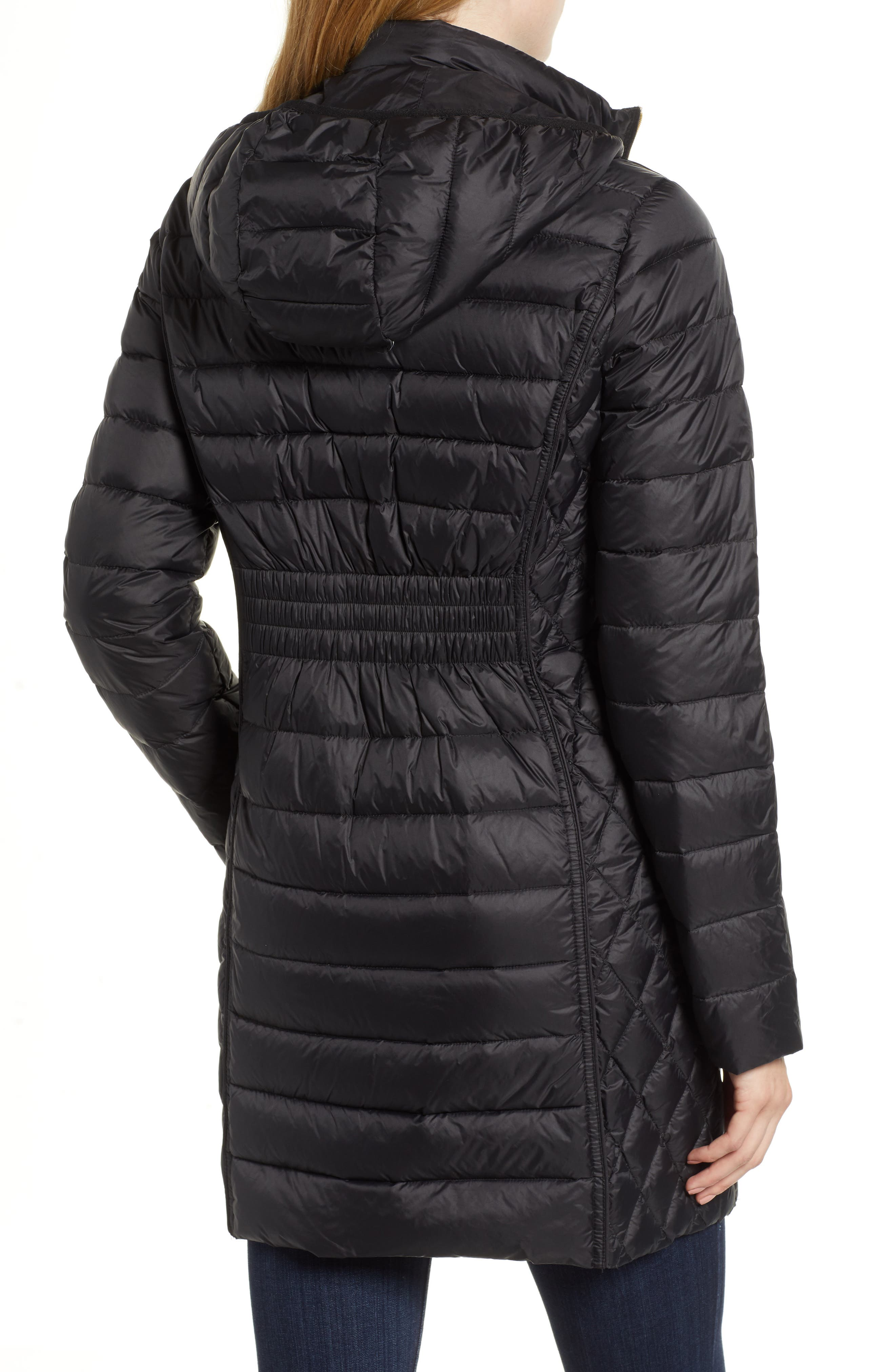 Packable Down Puffer Jacket,                             Alternate thumbnail 2, color,                             BLACK