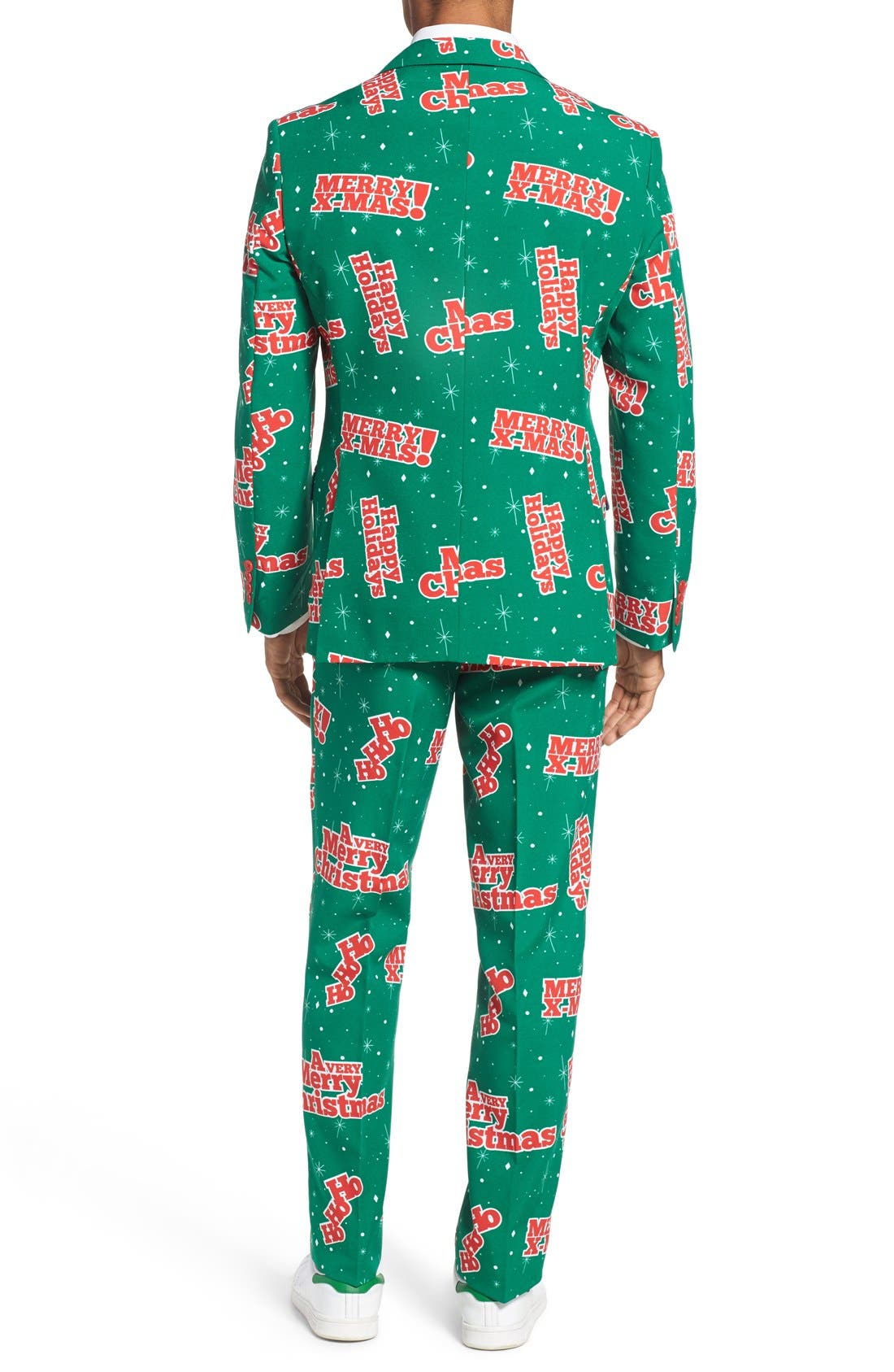 'Happy Holidude' Trim Fit Two-Piece Suit with Tie,                             Alternate thumbnail 2, color,                             301