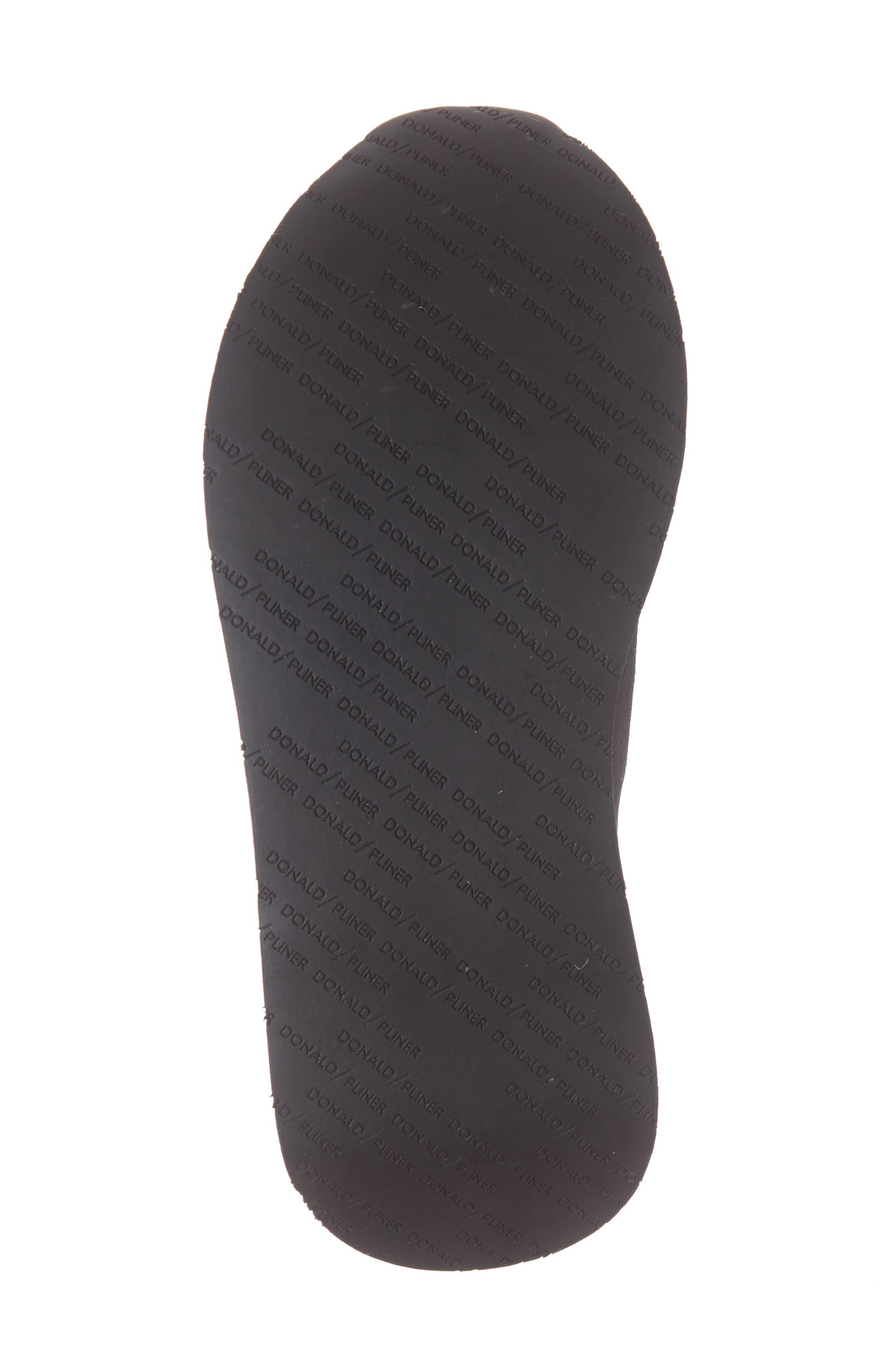 Piper Platform Slip-On Sneaker,                             Alternate thumbnail 6, color,                             BLACK STRETCH FABRIC