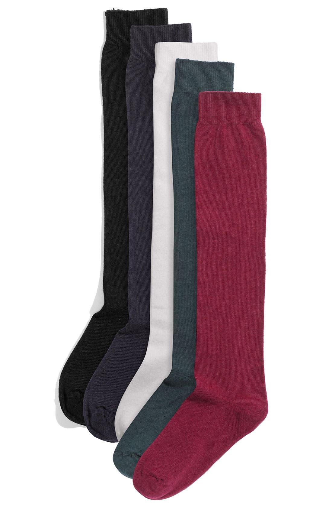 Flat Knit Knee Socks,                         Main,                         color, 088