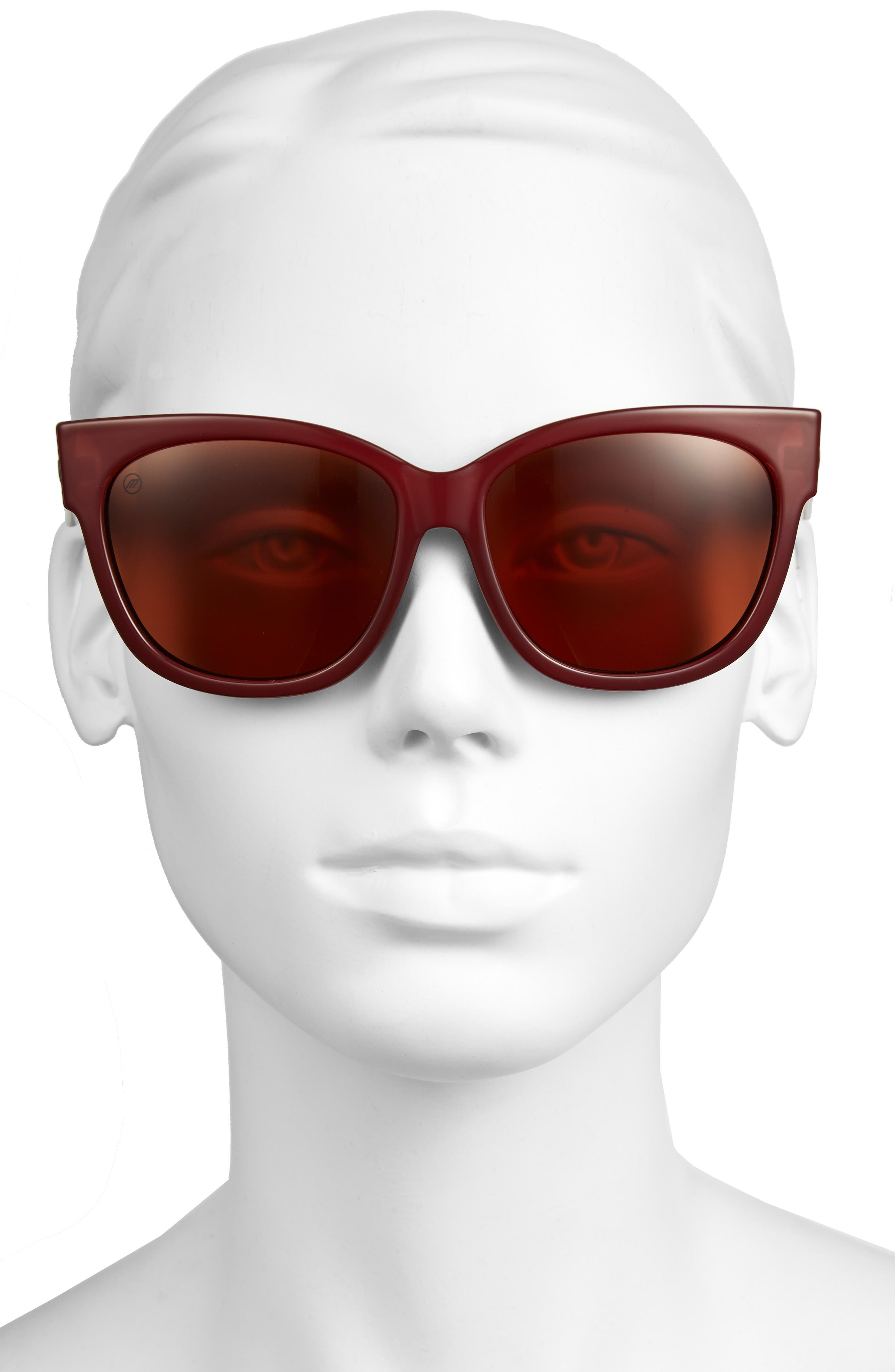 'Danger Cat' 58mm Retro Sunglasses,                             Alternate thumbnail 5, color,