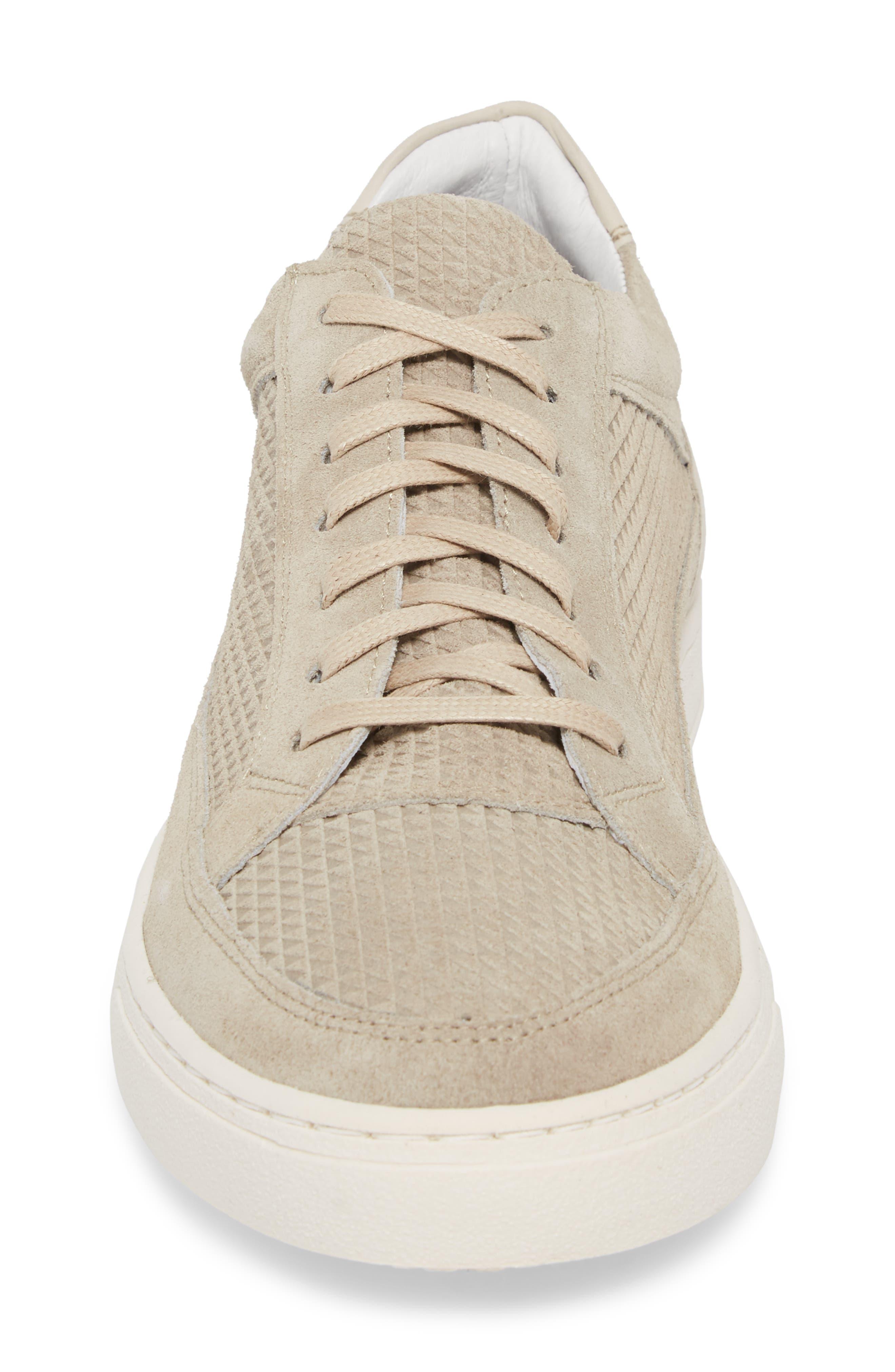 Reid Embossed Water Resistant Sneaker,                             Alternate thumbnail 4, color,                             SAND
