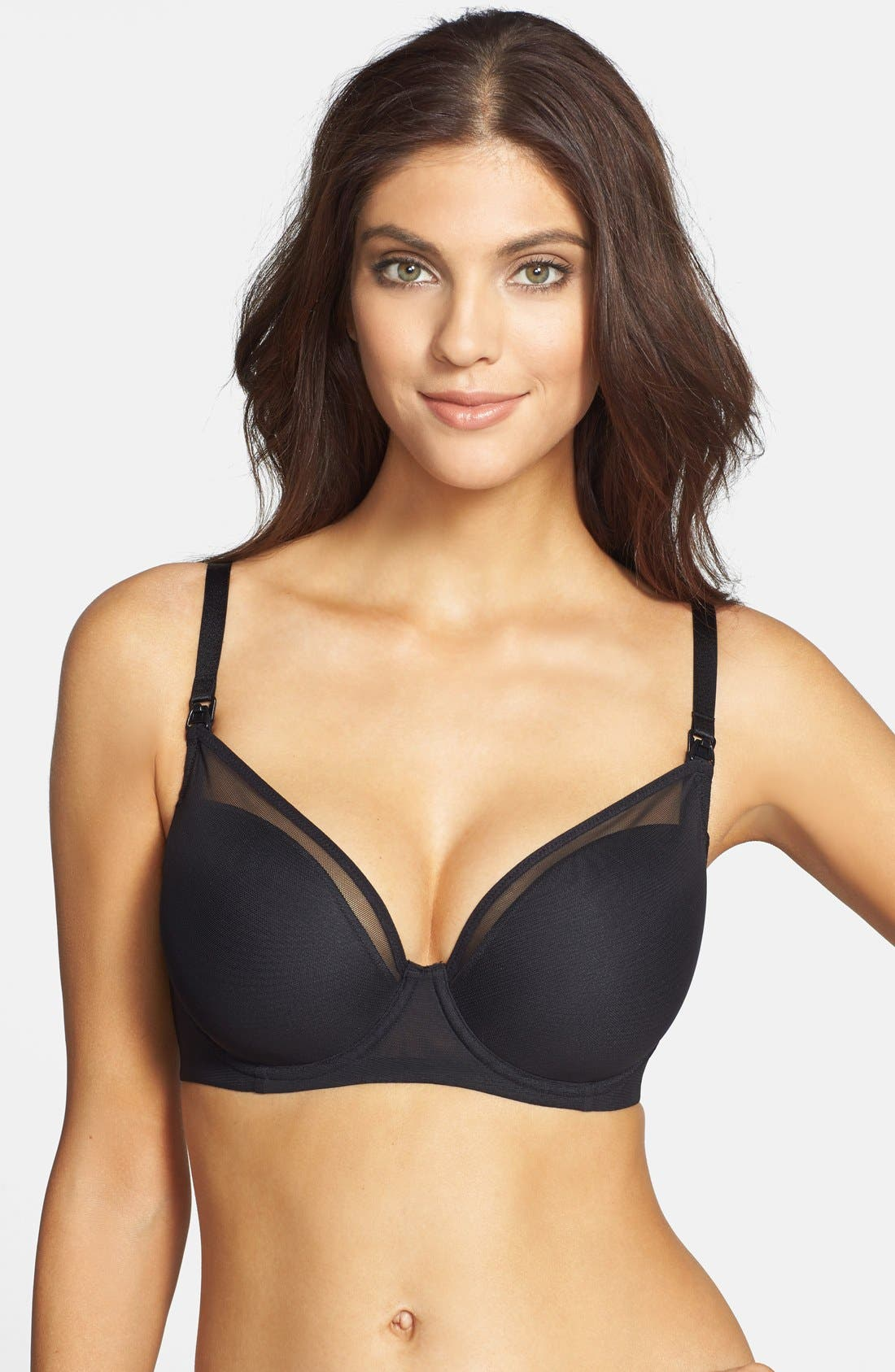Le Mystére 'Mama Mia' Underwire Nursing Bra,                             Alternate thumbnail 9, color,                             BLACK