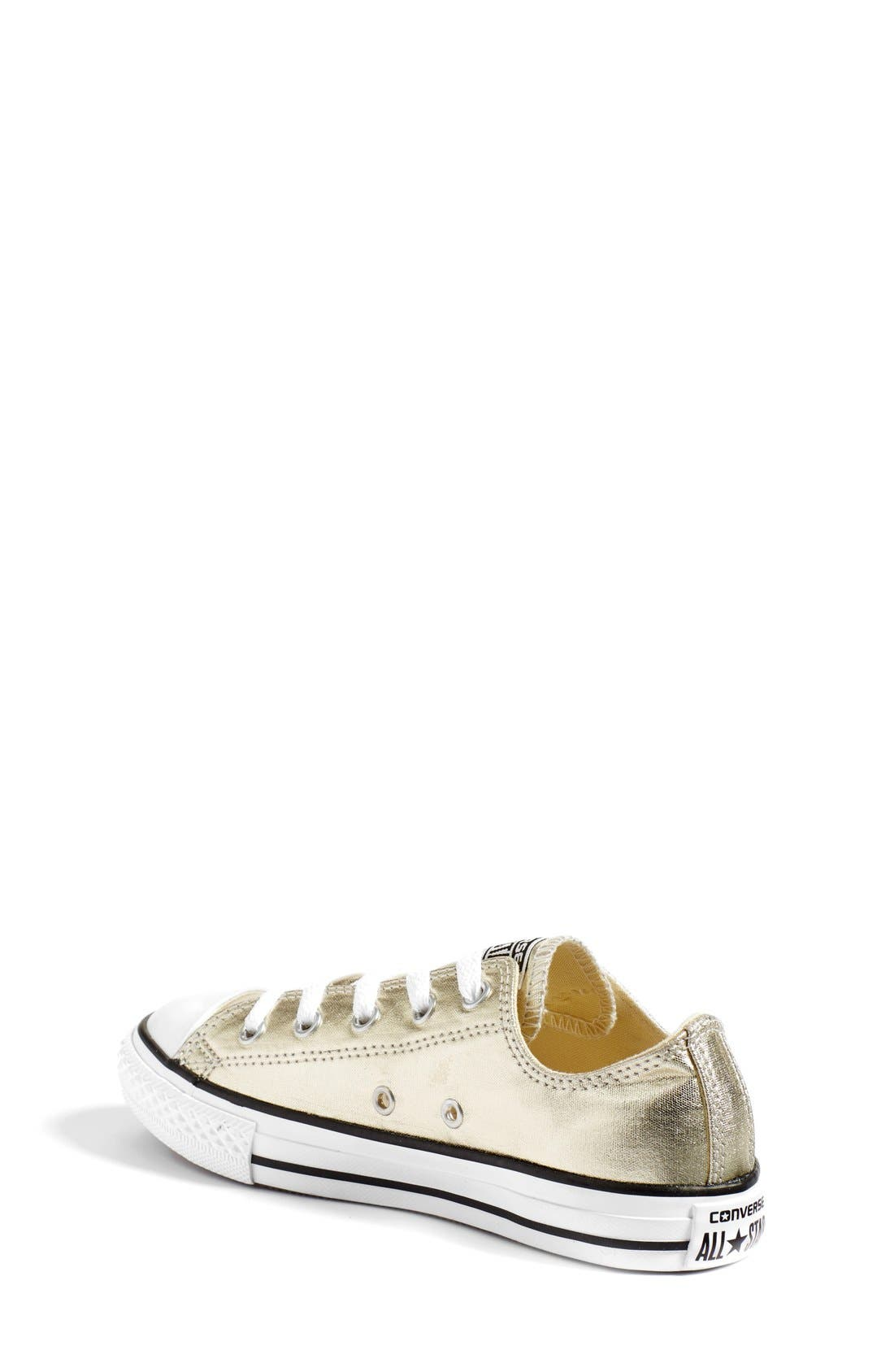Chuck Taylor<sup>®</sup> All Star<sup>®</sup> Metallic Sneaker,                             Alternate thumbnail 2, color,                             LIGHT GOLD/ WHITE