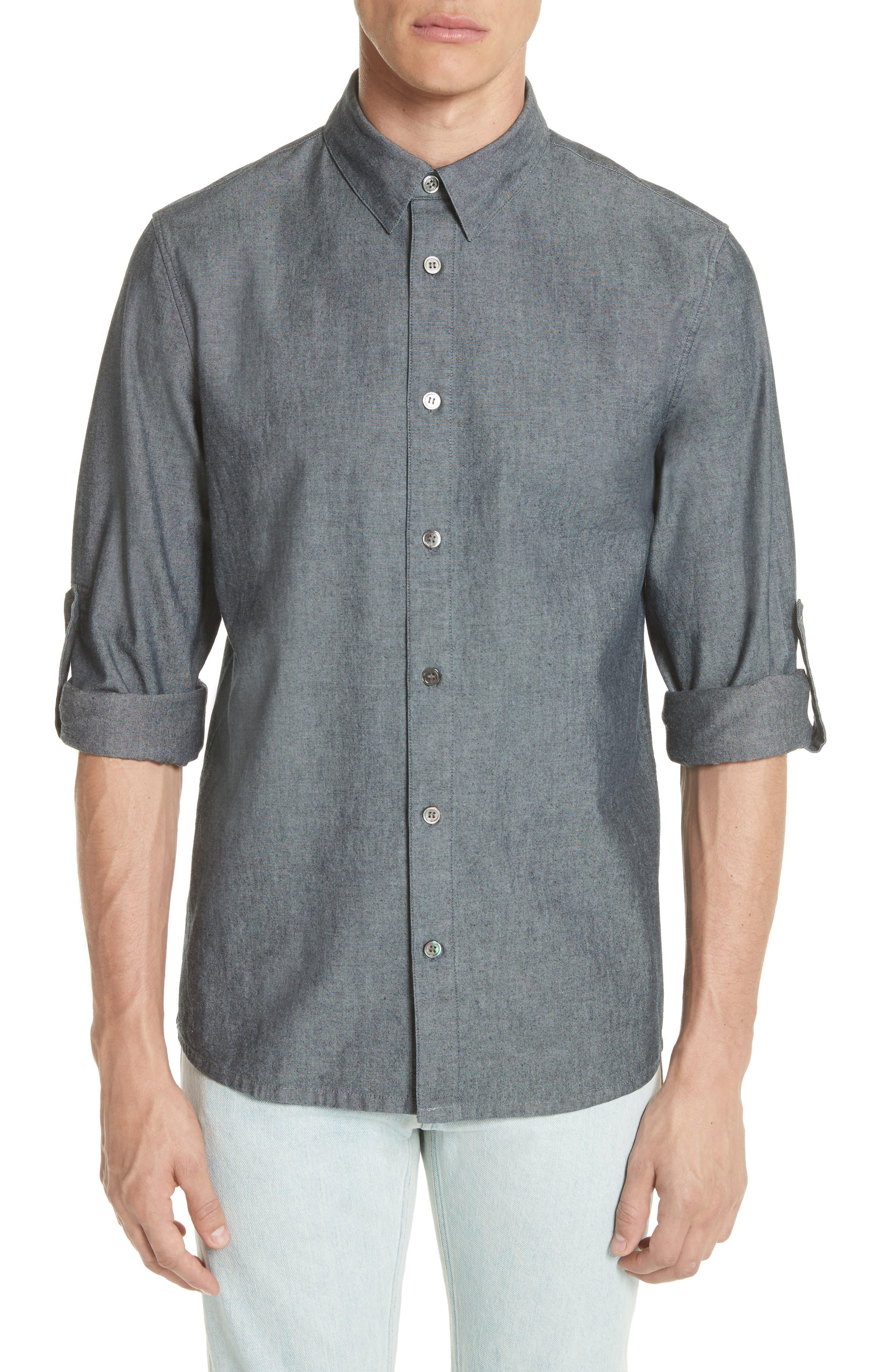 Reno Solid Sport Shirt,                             Main thumbnail 1, color,                             INDIGO
