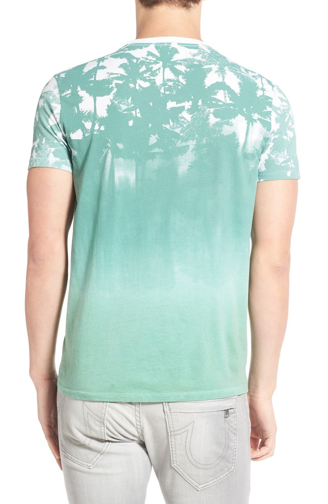 'Lost' Shadow Palm Print Crewneck T-Shirt,                             Alternate thumbnail 4, color,