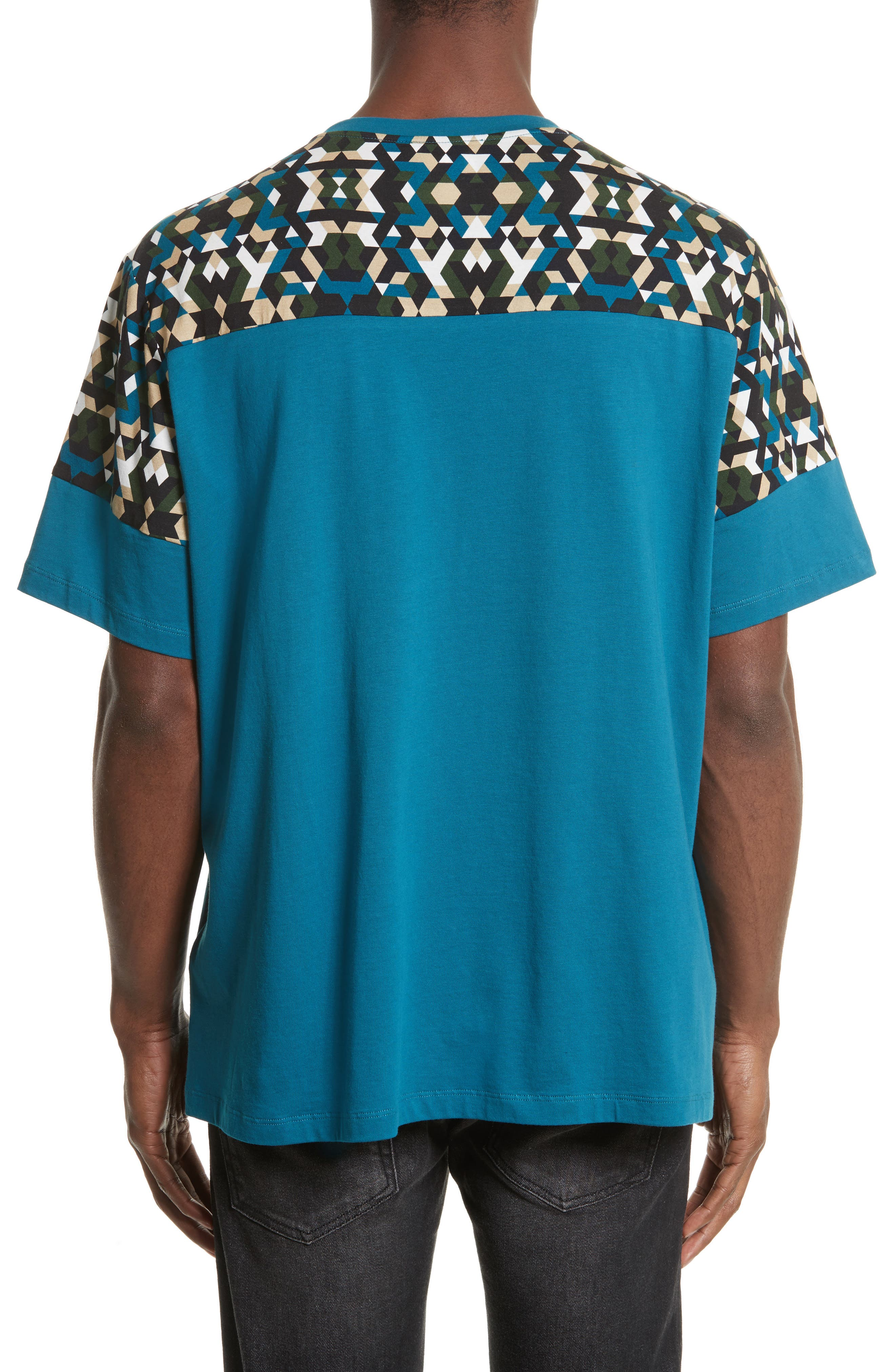 Geo Colorblock T-Shirt,                             Alternate thumbnail 2, color,                             407