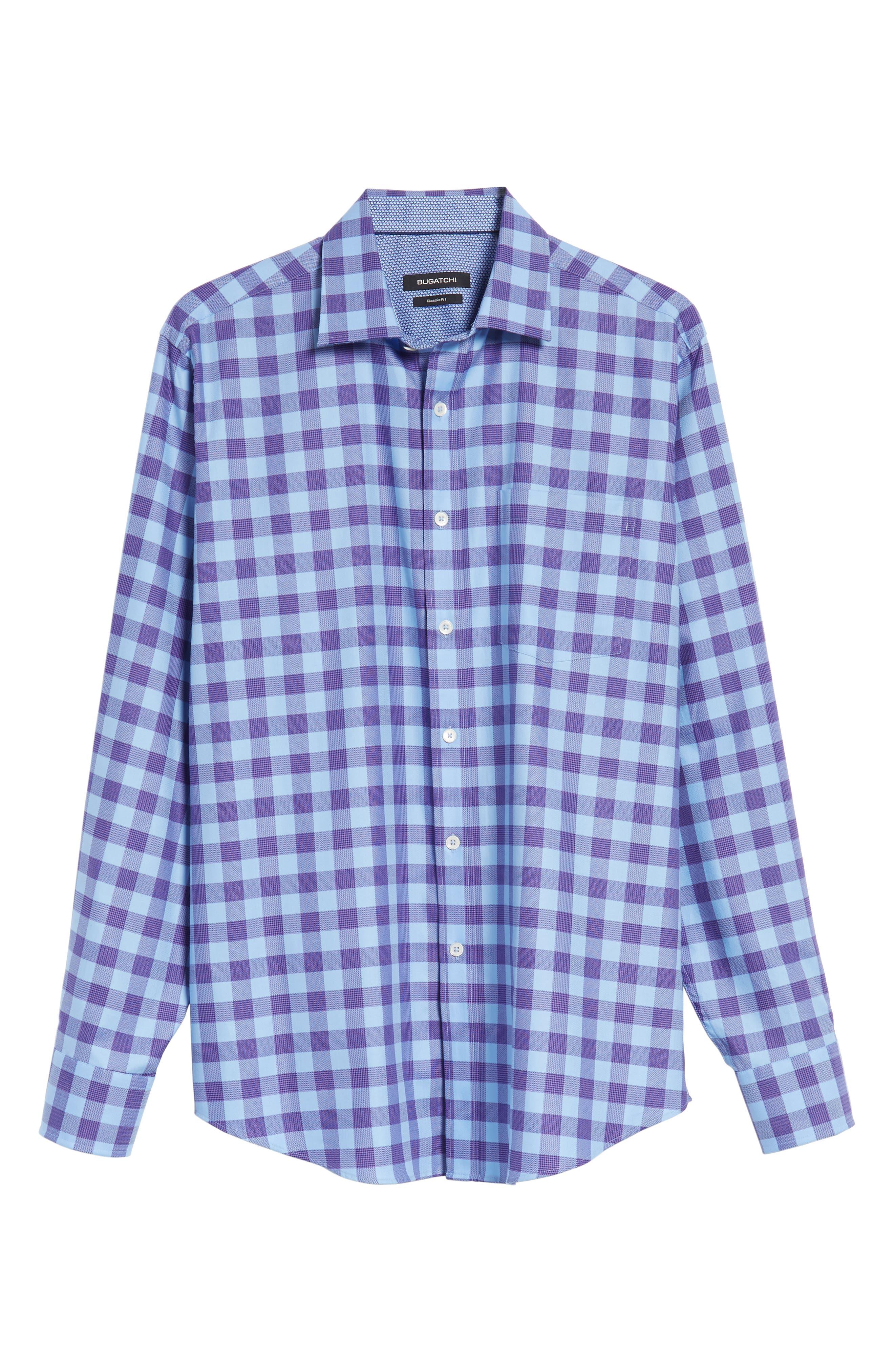 Classic Fit Woven Check Sport Shirt,                             Alternate thumbnail 6, color,                             513