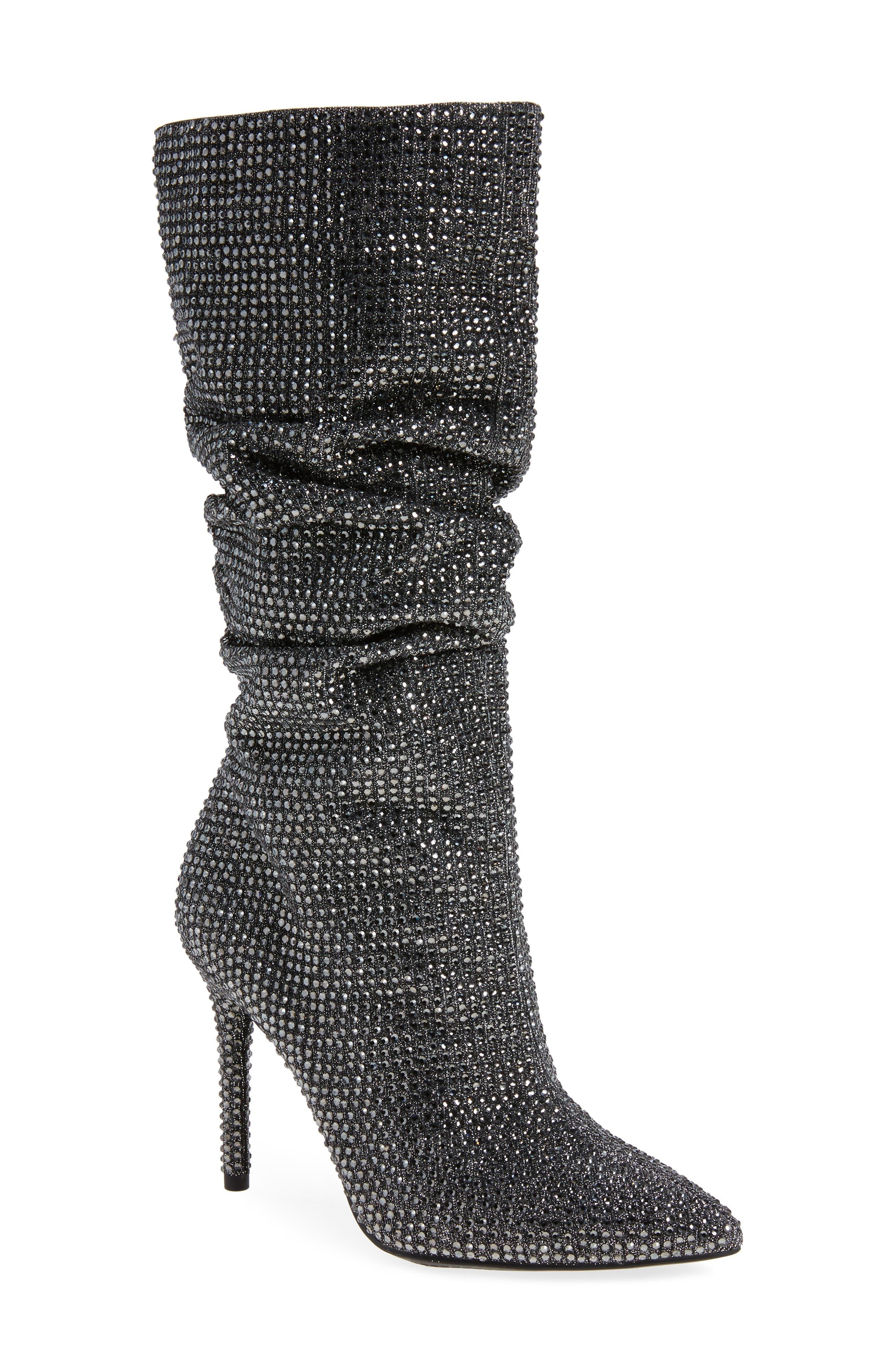 Jessica Simpson Layzer Embellished Slouch Boot- Metallic