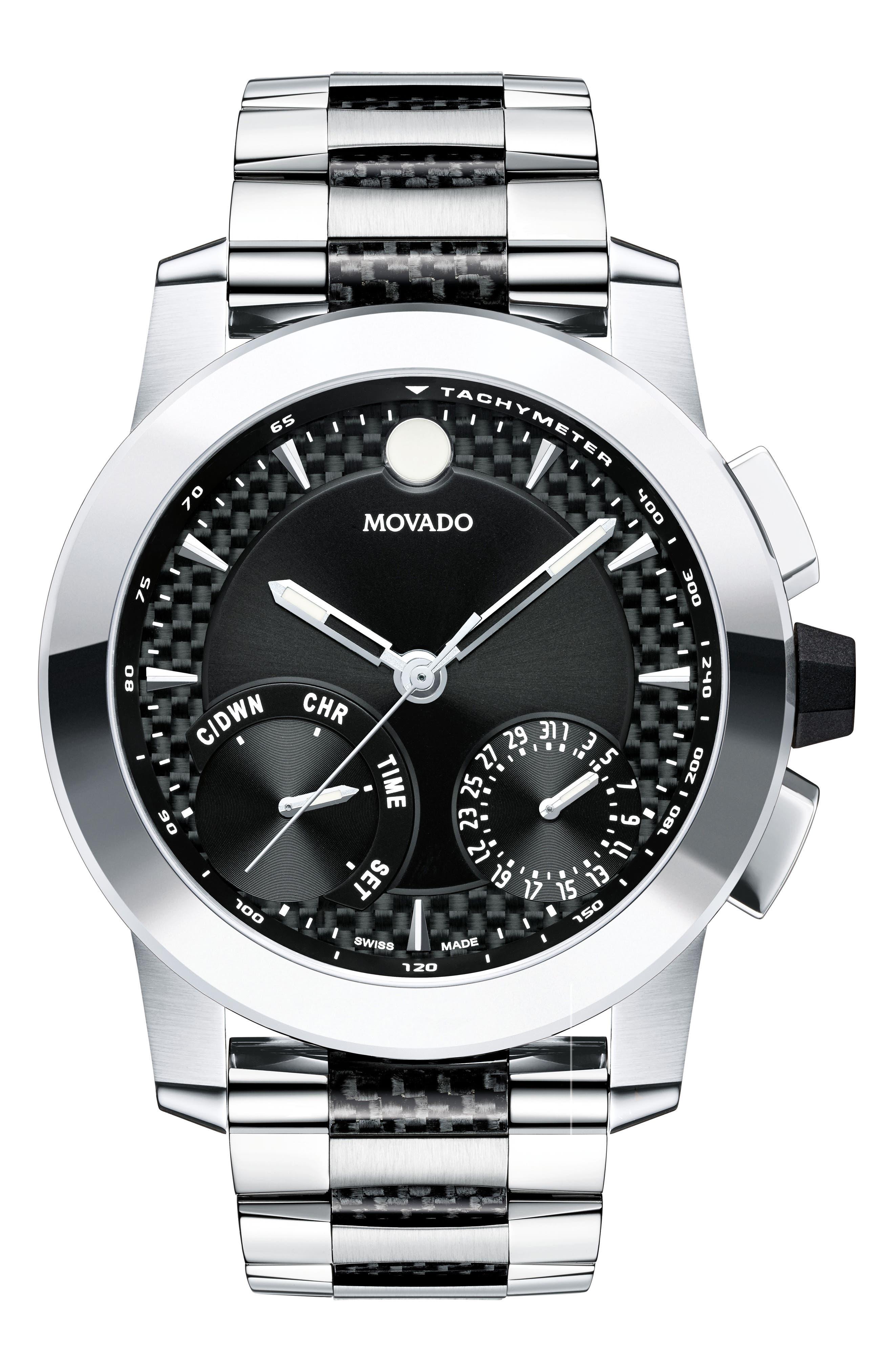 Vizio Chronograph Bracelet Watch, 45mm,                             Main thumbnail 1, color,                             041