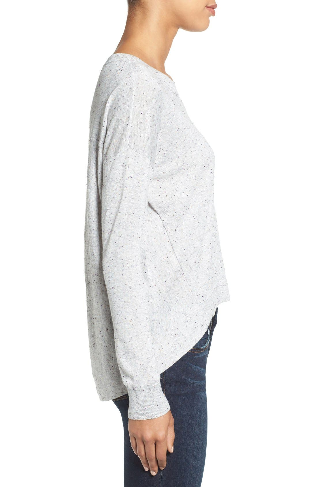 Pleat Back High/Low Crewneck Sweater,                             Alternate thumbnail 10, color,