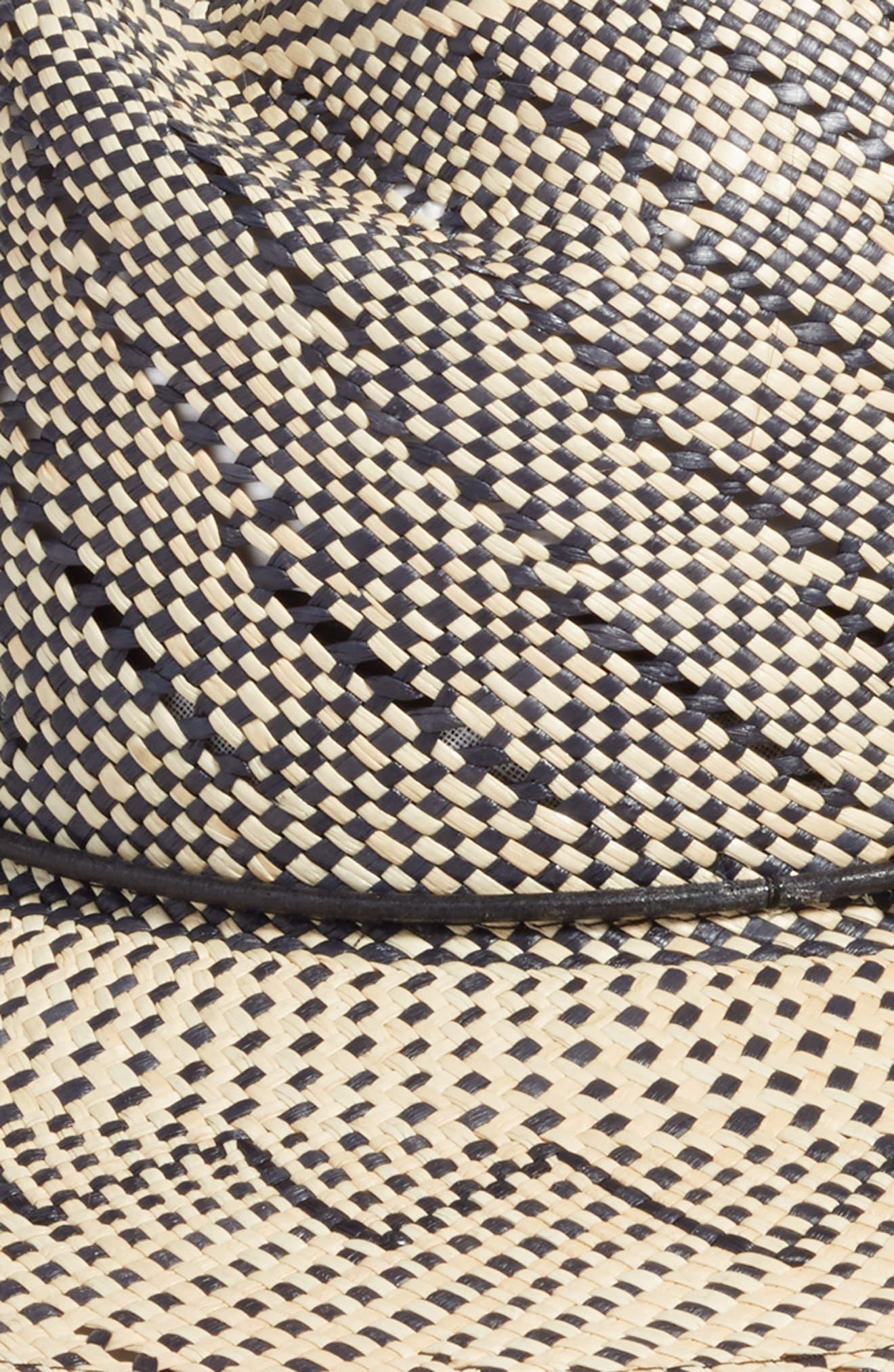 Zoe Straw Hat,                             Alternate thumbnail 2, color,                             NAVY MULTI