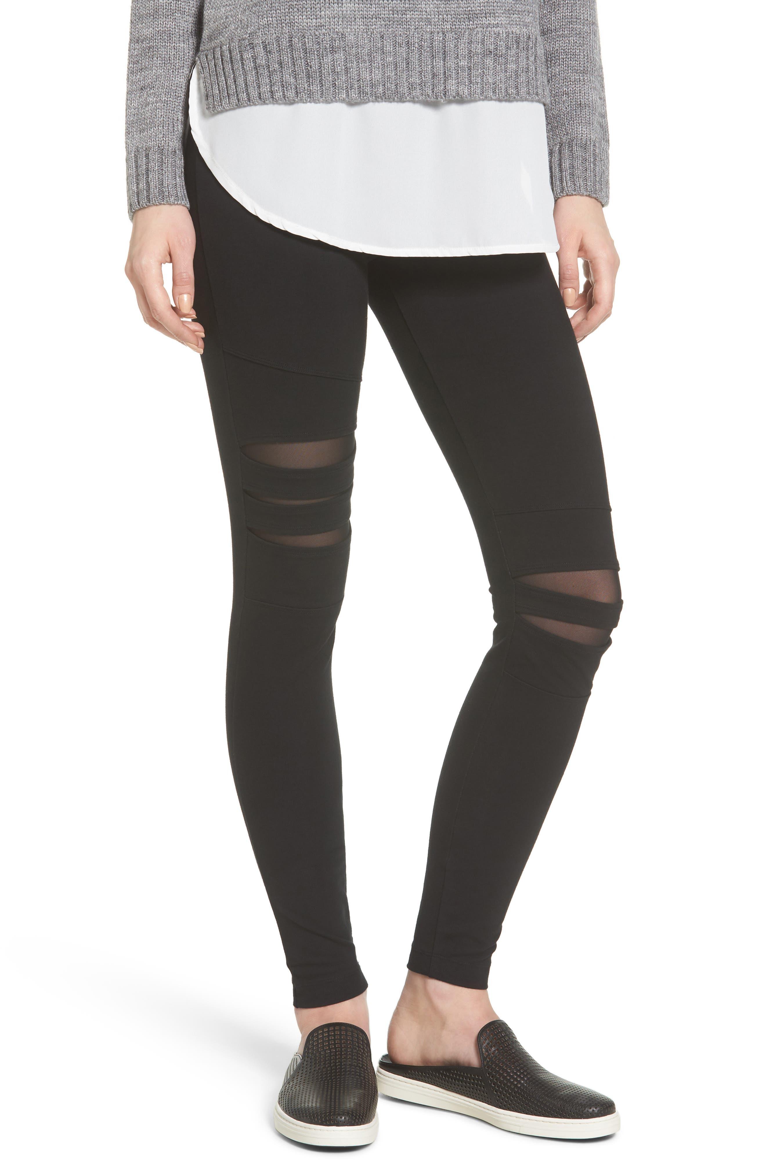 Slashed High Waist Leggings,                         Main,                         color,