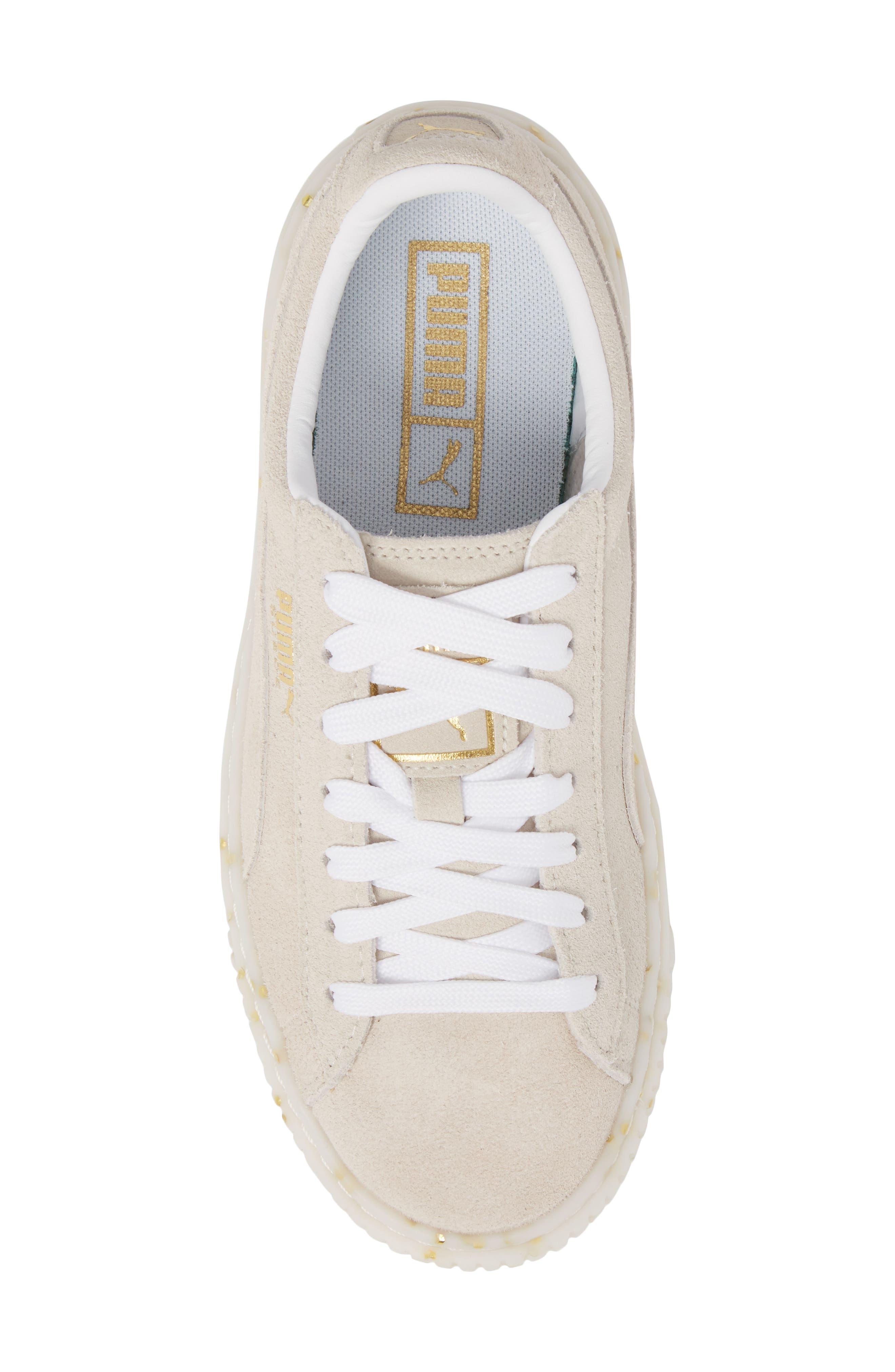 Suede Platform Sneaker,                             Alternate thumbnail 26, color,