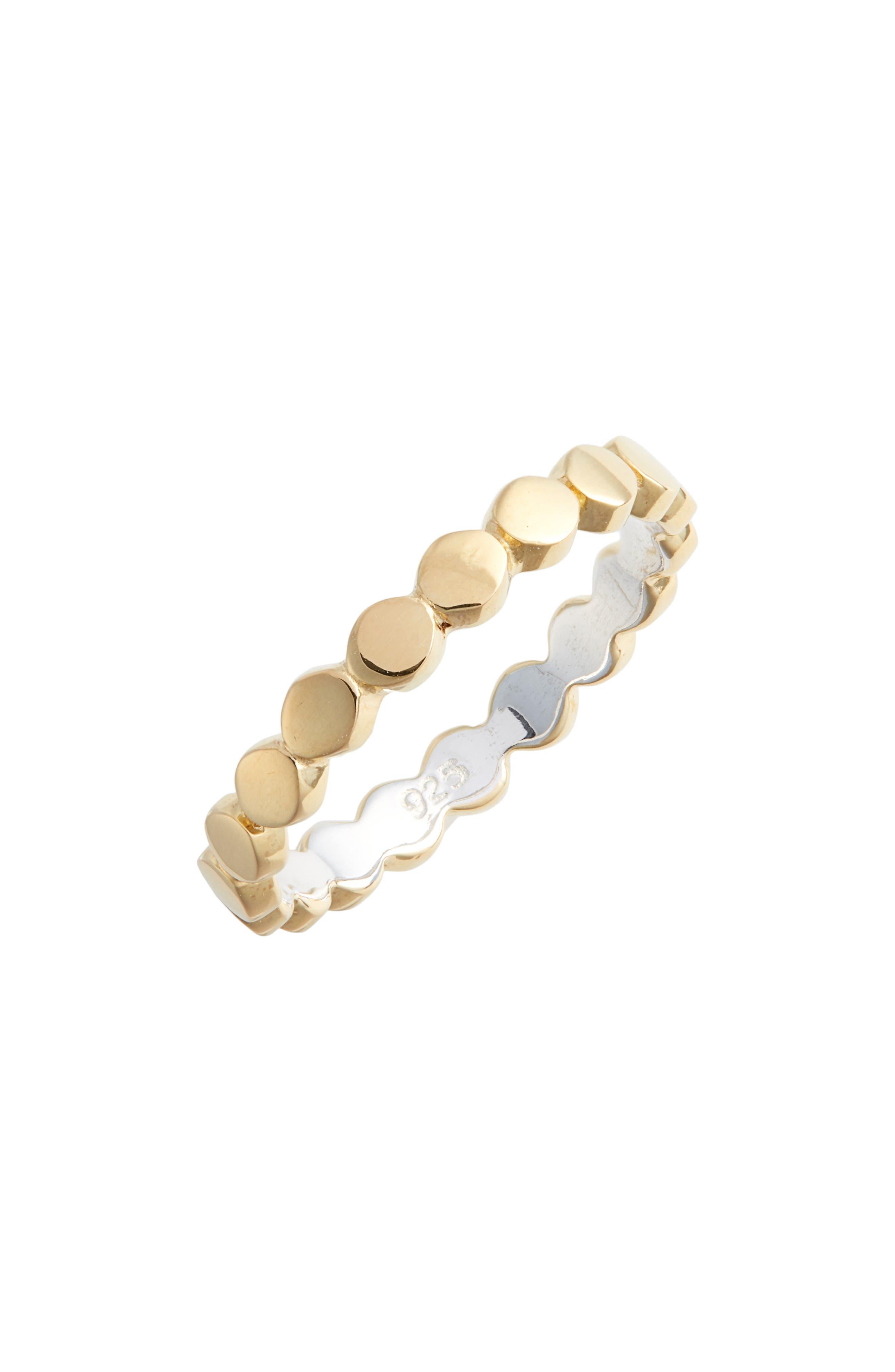 ANNA BECK Smooth Circle Stacking Ring in Gold