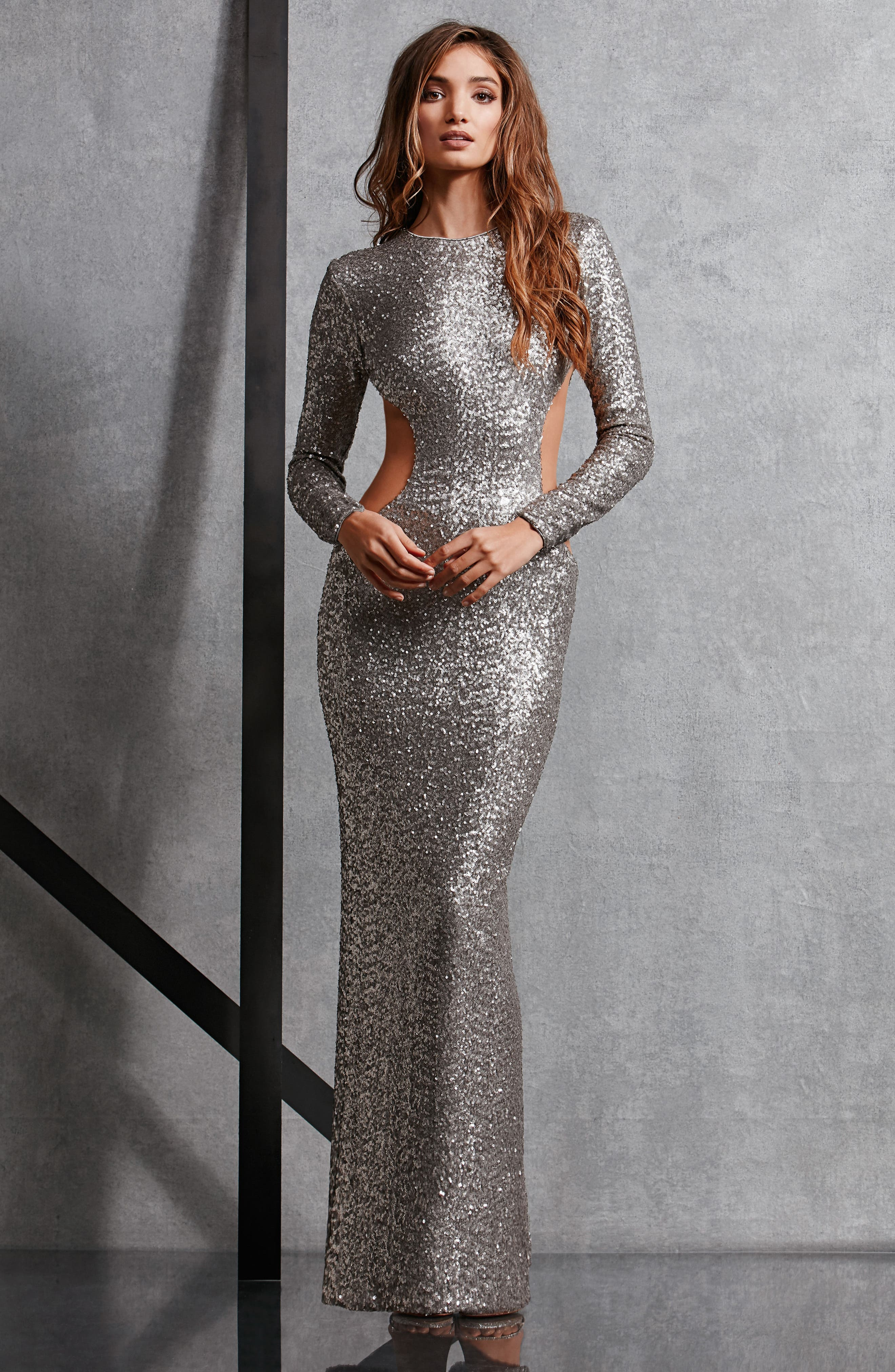 Lara Body-Con Gown,                             Alternate thumbnail 21, color,